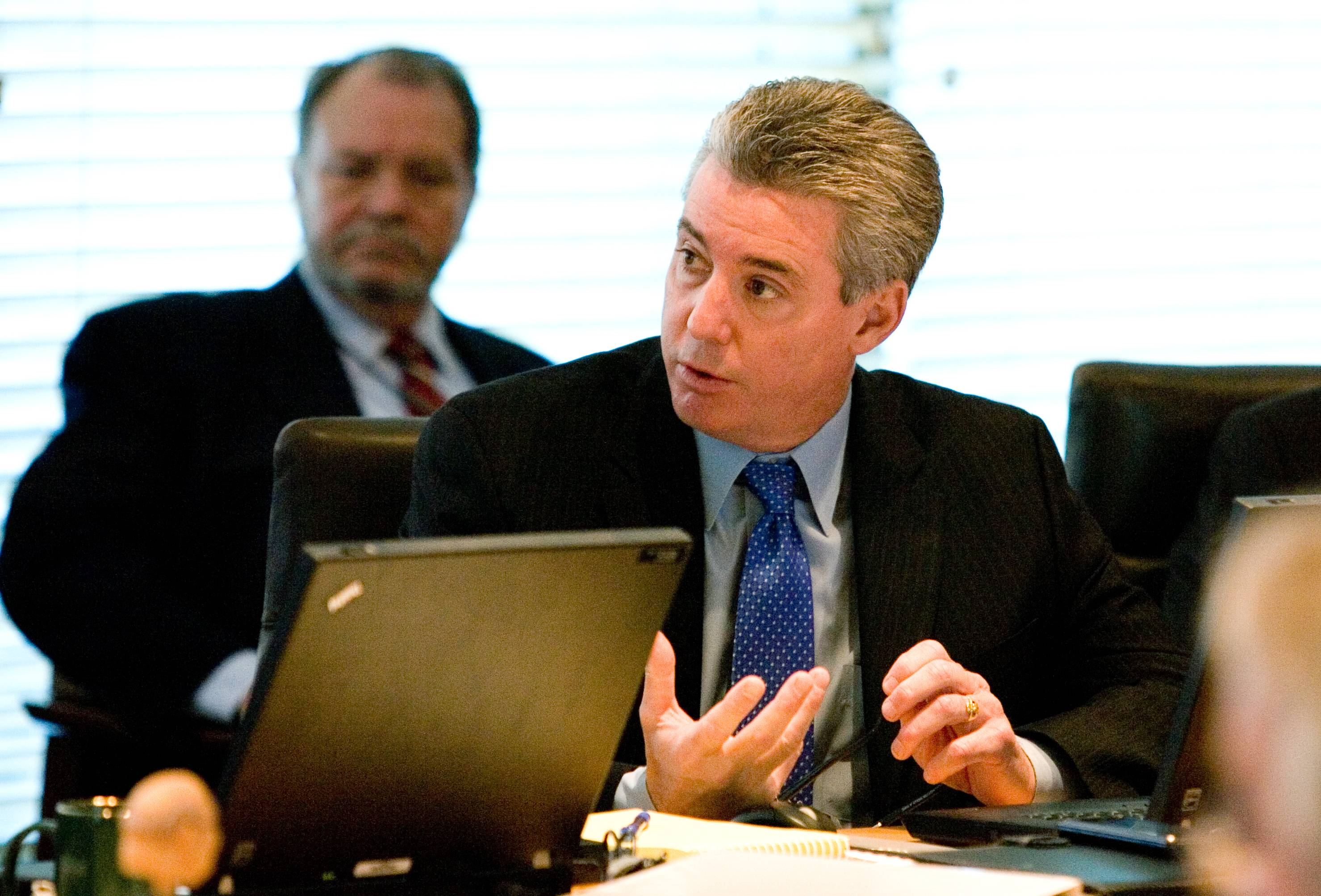 Daily Herald File Photo / Daniel White dwhite@dailyherald.com James Sweeney, president of a union whose members get jobs from tollway contracts, was named to the Illinois Tollway board.