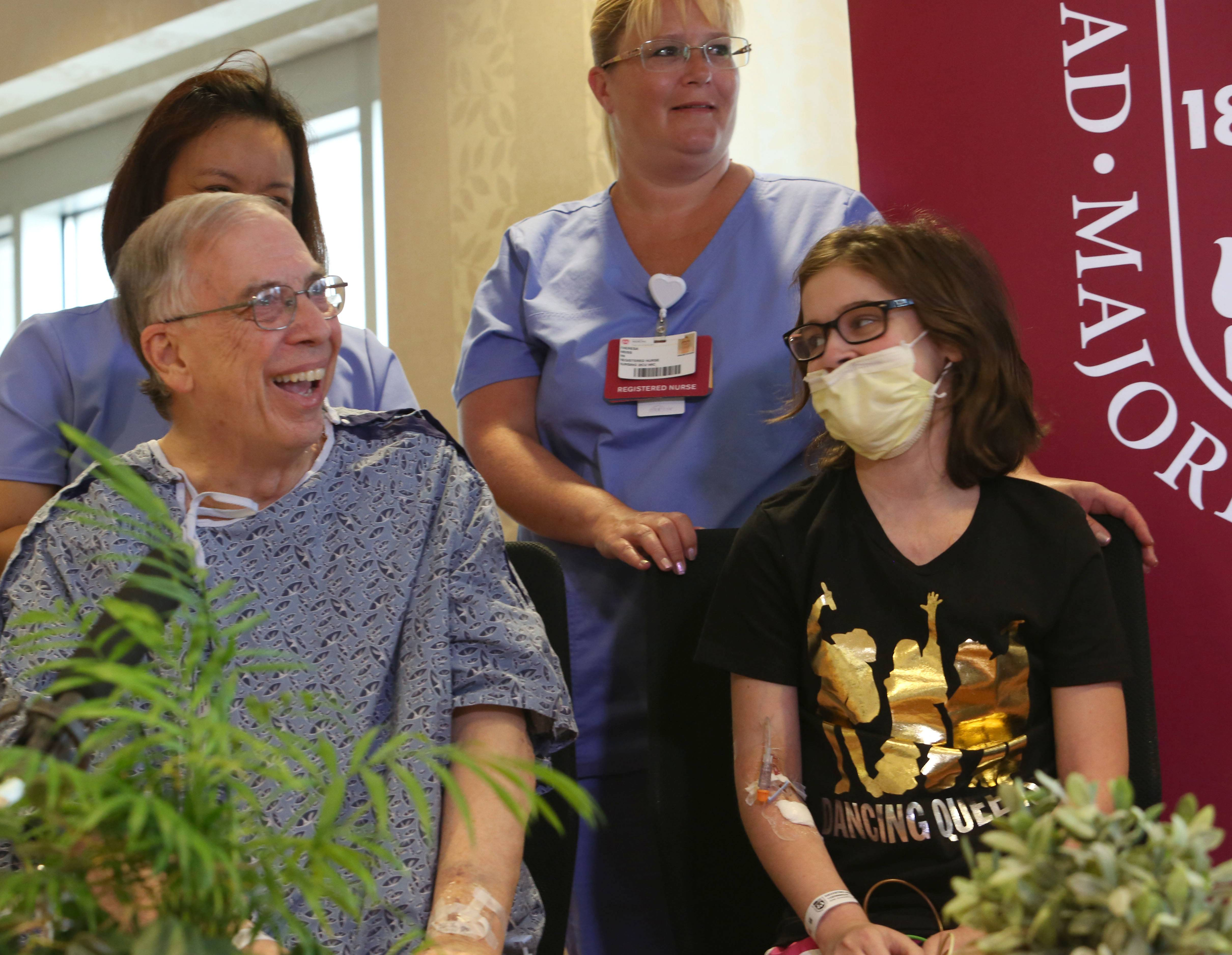 Robert Senander of Winfield and Julie D'Agostino of Elmhurst were two of five patients to receive lung transplants during a roughly 24-hour period at Loyola University Medical Center in Maywood.