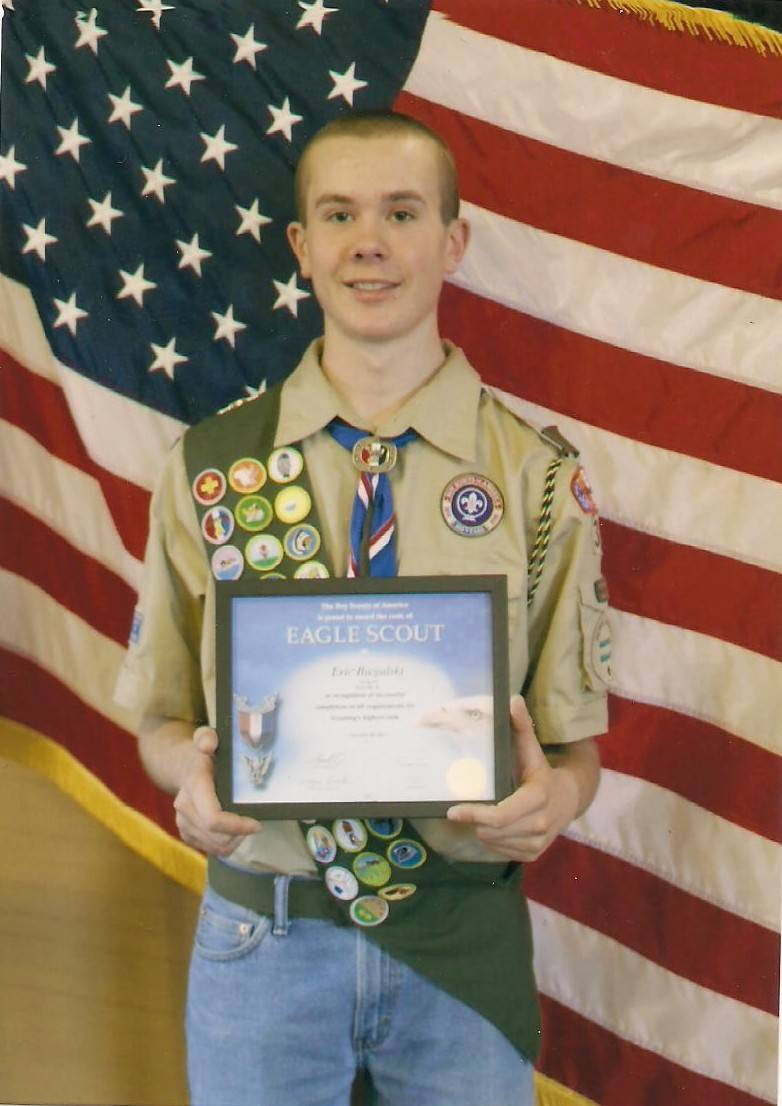 Eric Biegalski of Boy Scout Troop 34 recently achieved of the rank of Eagle Scout.