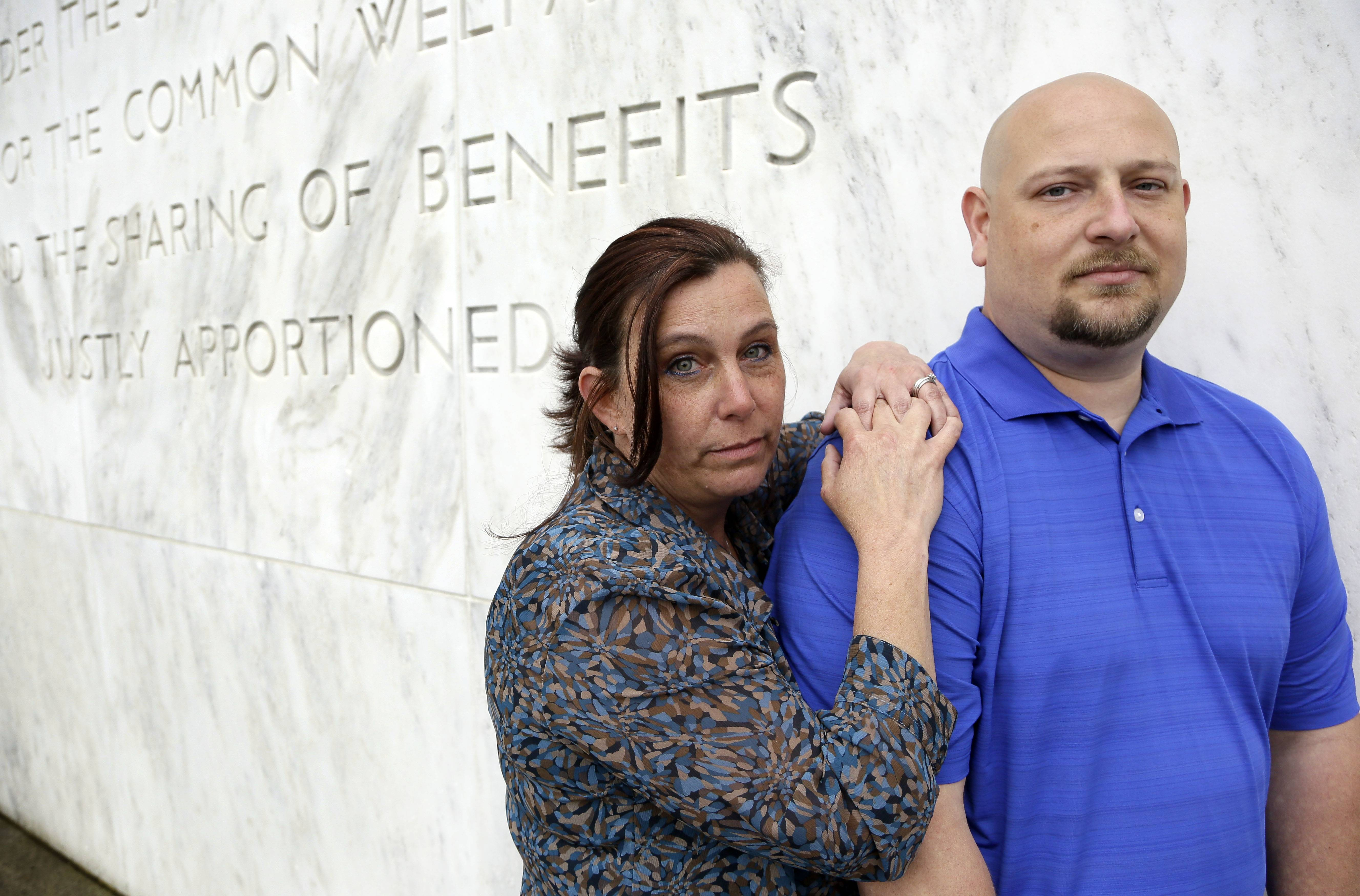 Spartanburg, S.C., sheriff's deputy Brandon Bentley, poses for a photo with his wife, retired Salem, Ore., police department officer Kelly Clark. Bentley's appeal to the South Carolina Supreme Court on a post-traumatic stress disorder claim was denied, stating the law did not provide mental health benefits for officers because they are trained in the use of deadly force and know that they may have to use it.