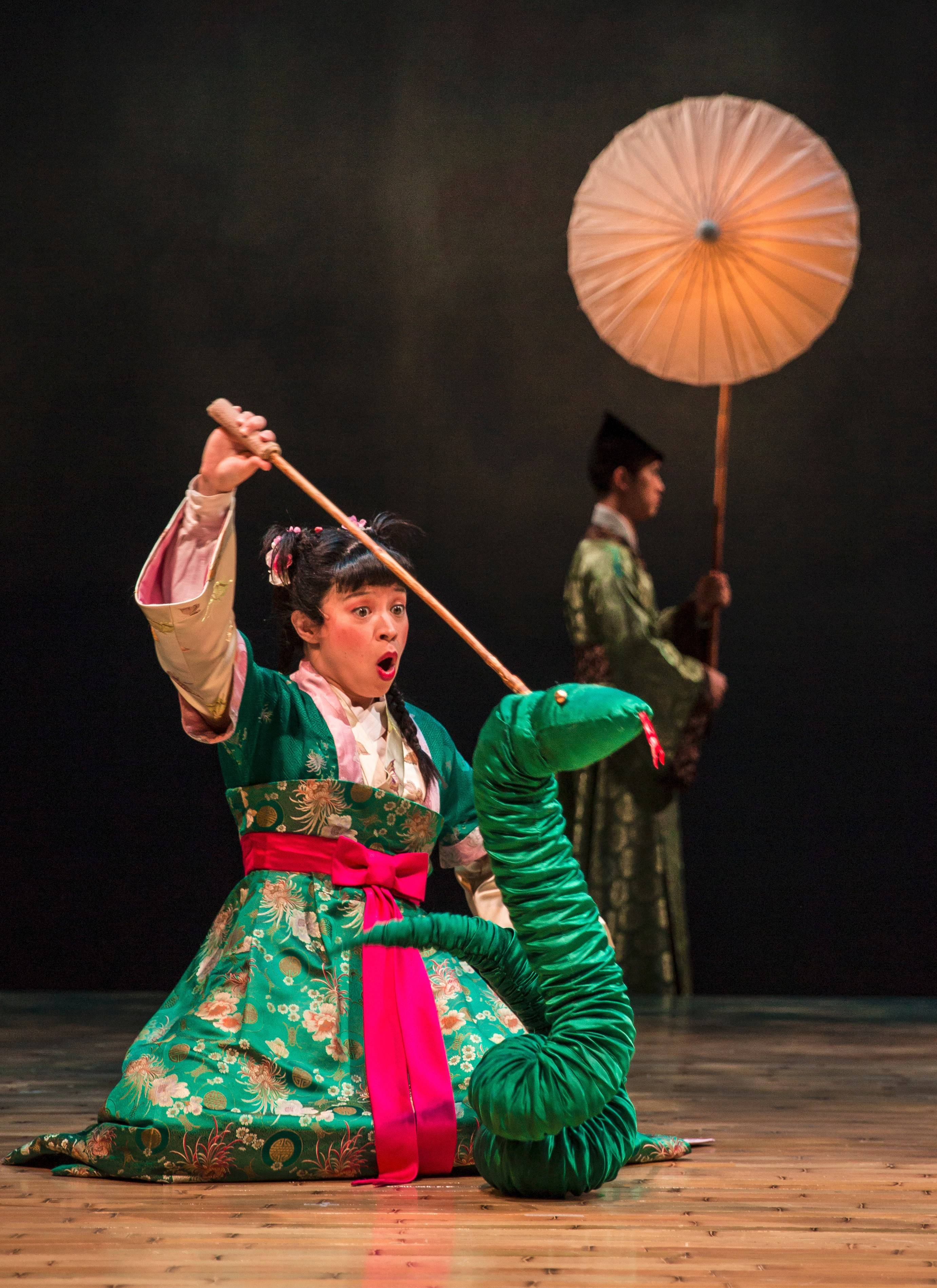 "Tanya Thai McBride stars as the Green Snake in director Mary Zimmerman's production of ""The White Snake"" at Goodman Theatre in Chicago."