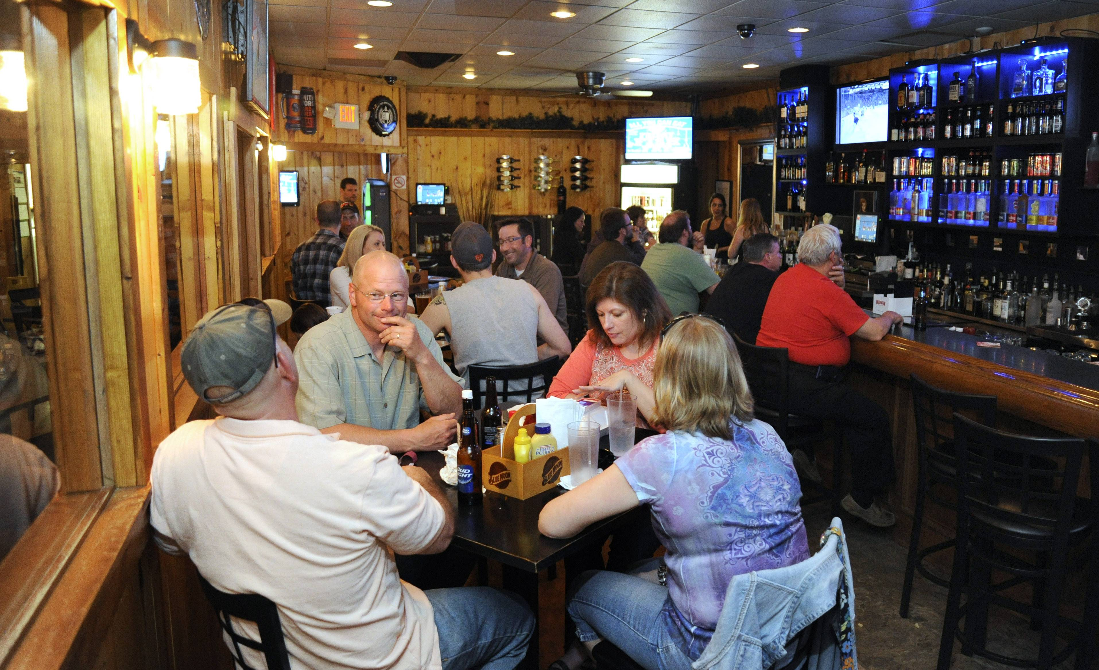 The Range Grill & Tap caters to both a bar crowd and families.