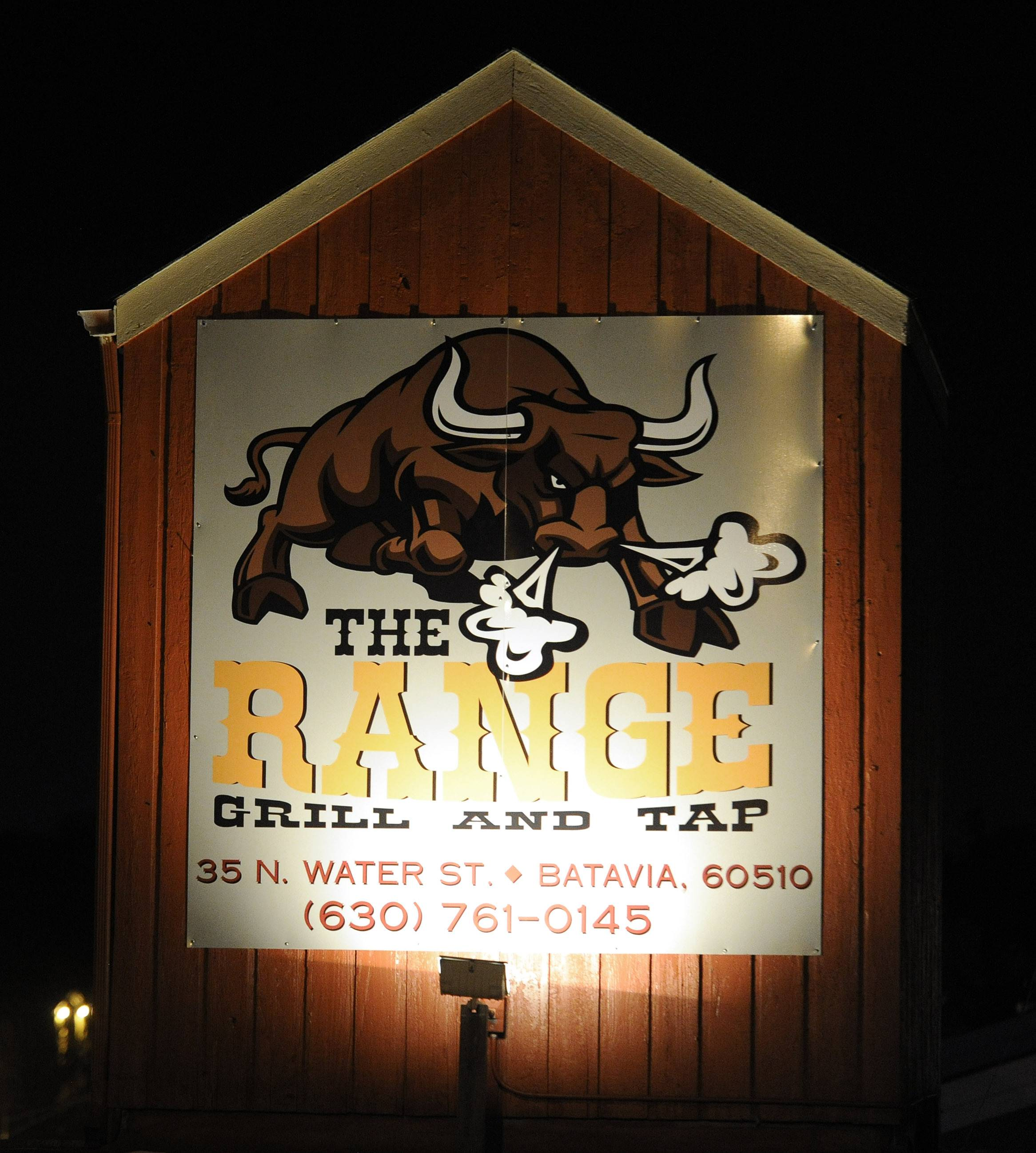Rustic decor fits the name at The Range Grill & Tap.
