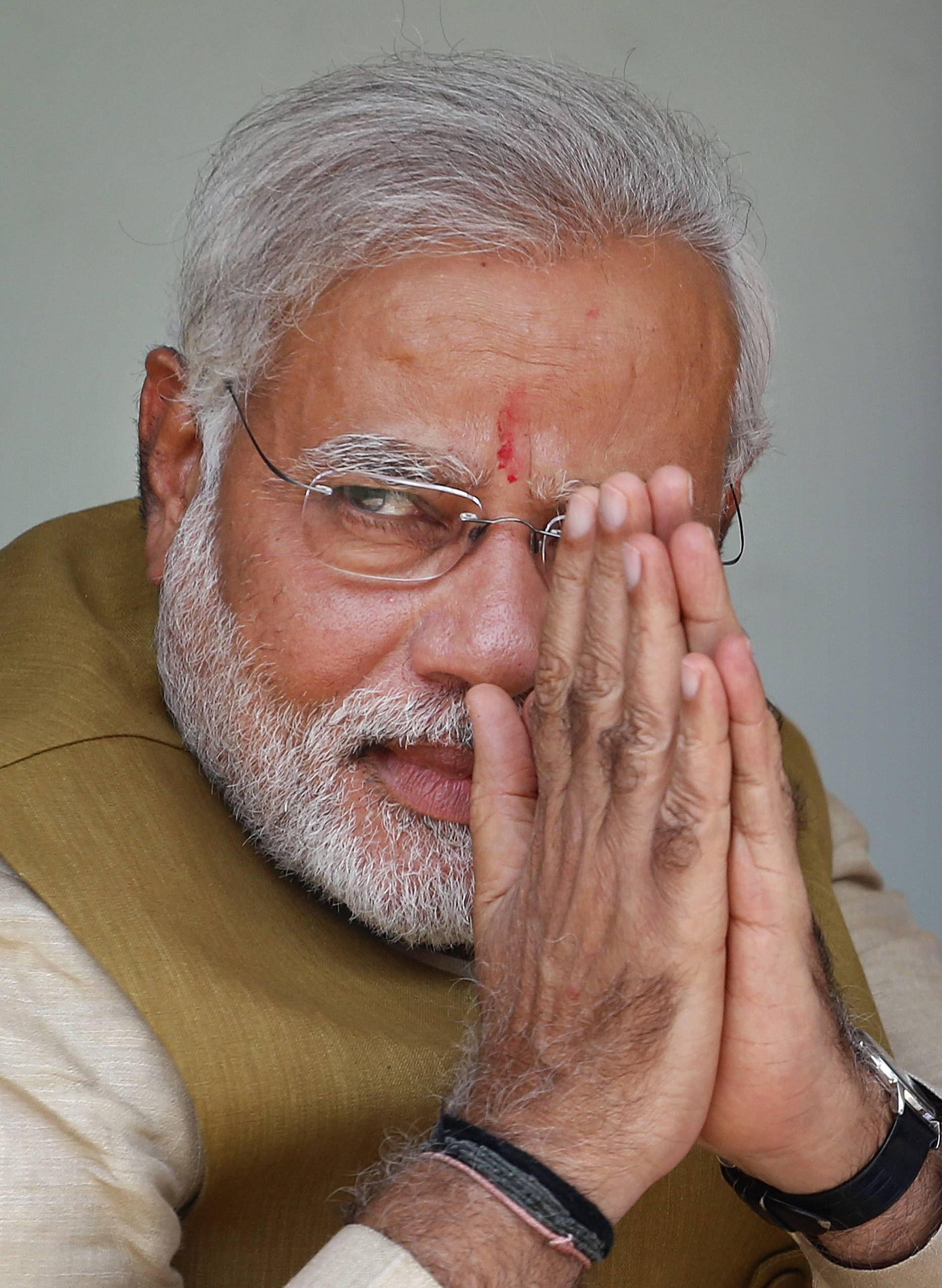 Opposition Bharatiya Janata Party (BJP) leader and India's next prime minister Narendra Modi.