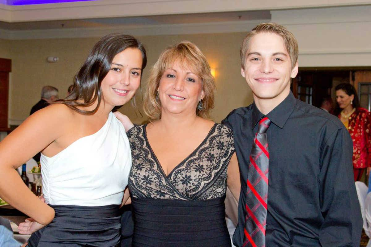 Patty Azarela, center, is pictured here with her daughter, Nicole Holmes, and son, Daniel Freese. A fundraiser will be held Saturday at Parkside Pub in Huntley for Azarela, who is battling lymphoma.