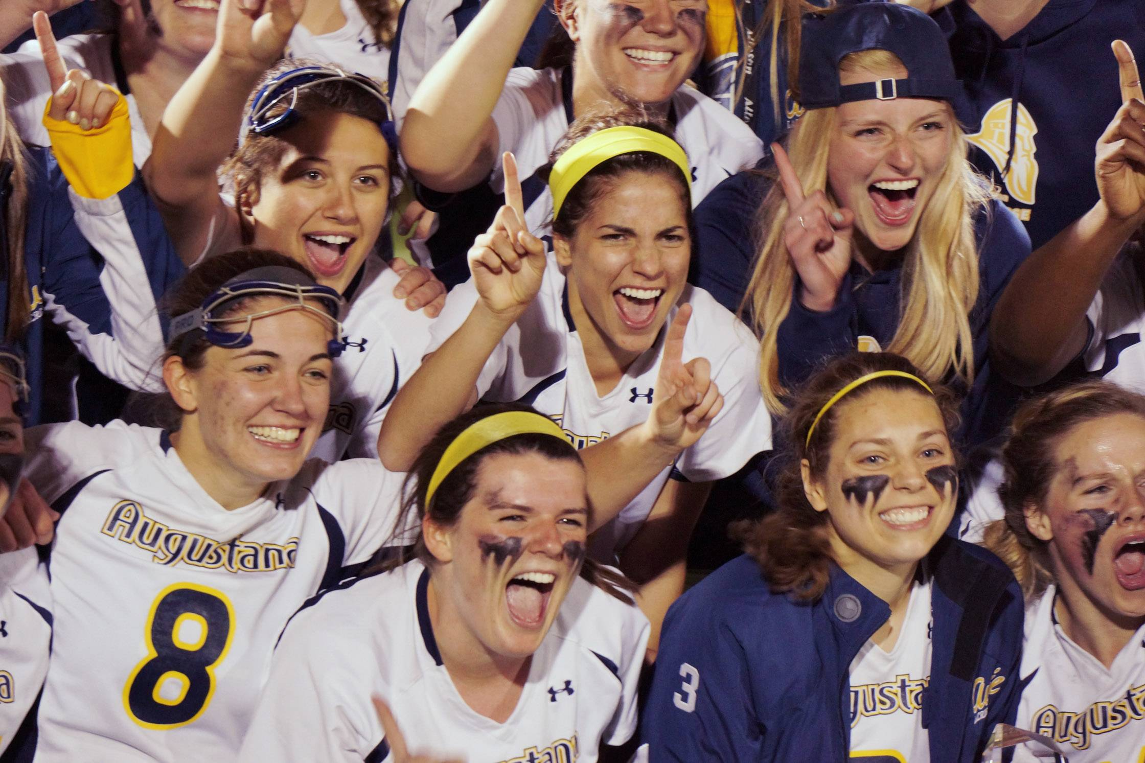 Augustana College Women's Lacrosse Team celebrates a 19-0 record with a  win over Adrian to advance to the third round of the NCAA D111 tournament against Salisbury College in Maryland.