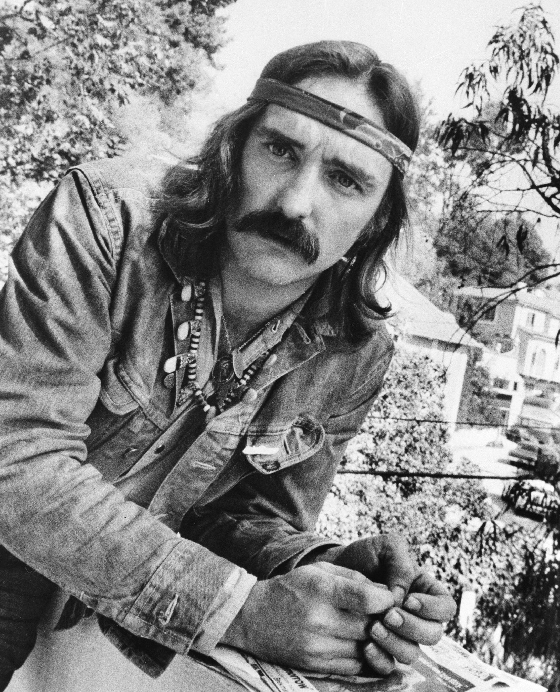 Associated Press/1971 file photo Director-actor Dennis Hopper poses in Hollywood, Calif.