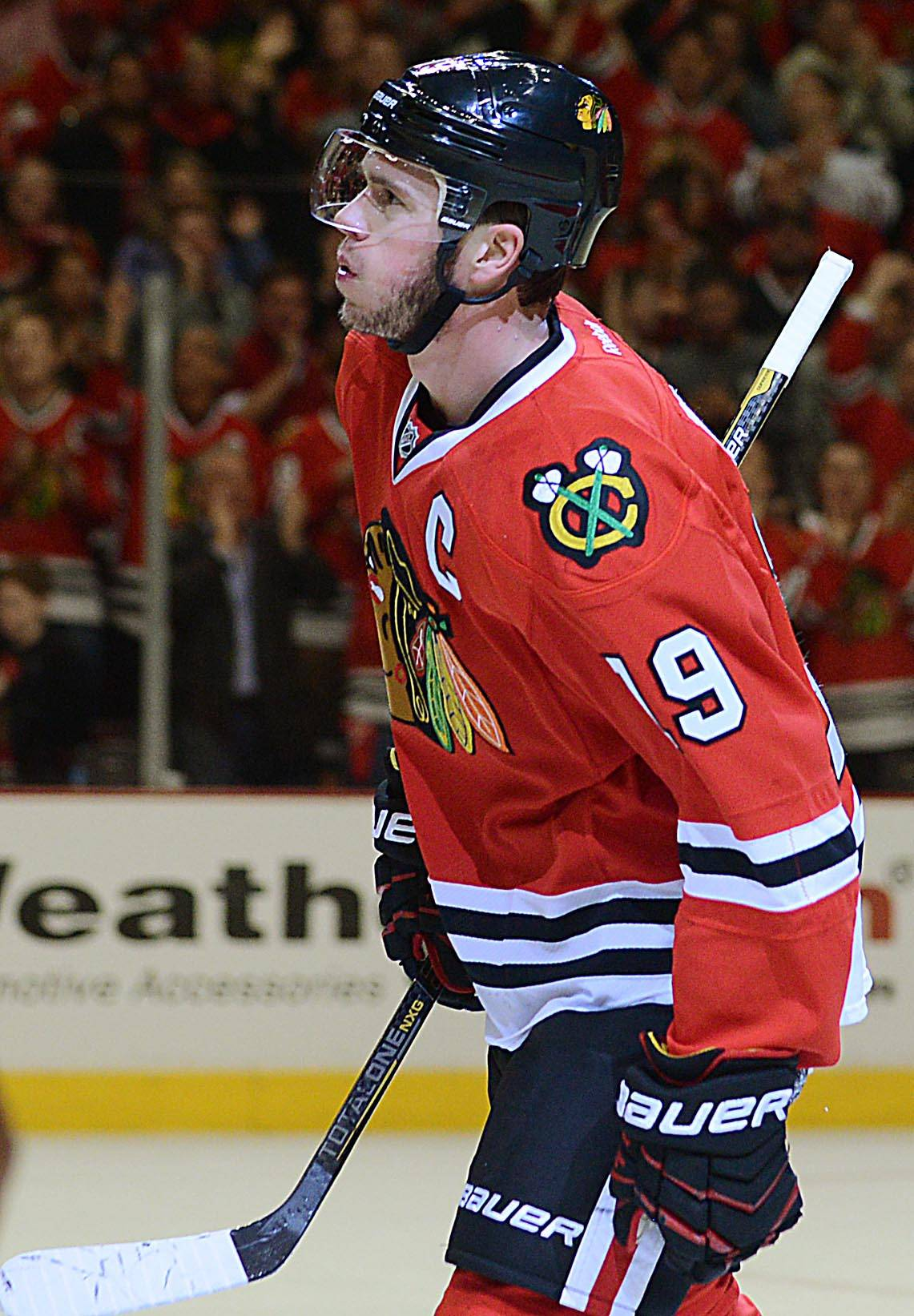 In 87 NHL playoff games, Blackhawks captain Jonathan Toews has 10 game-winning goals, which is a franchise record.