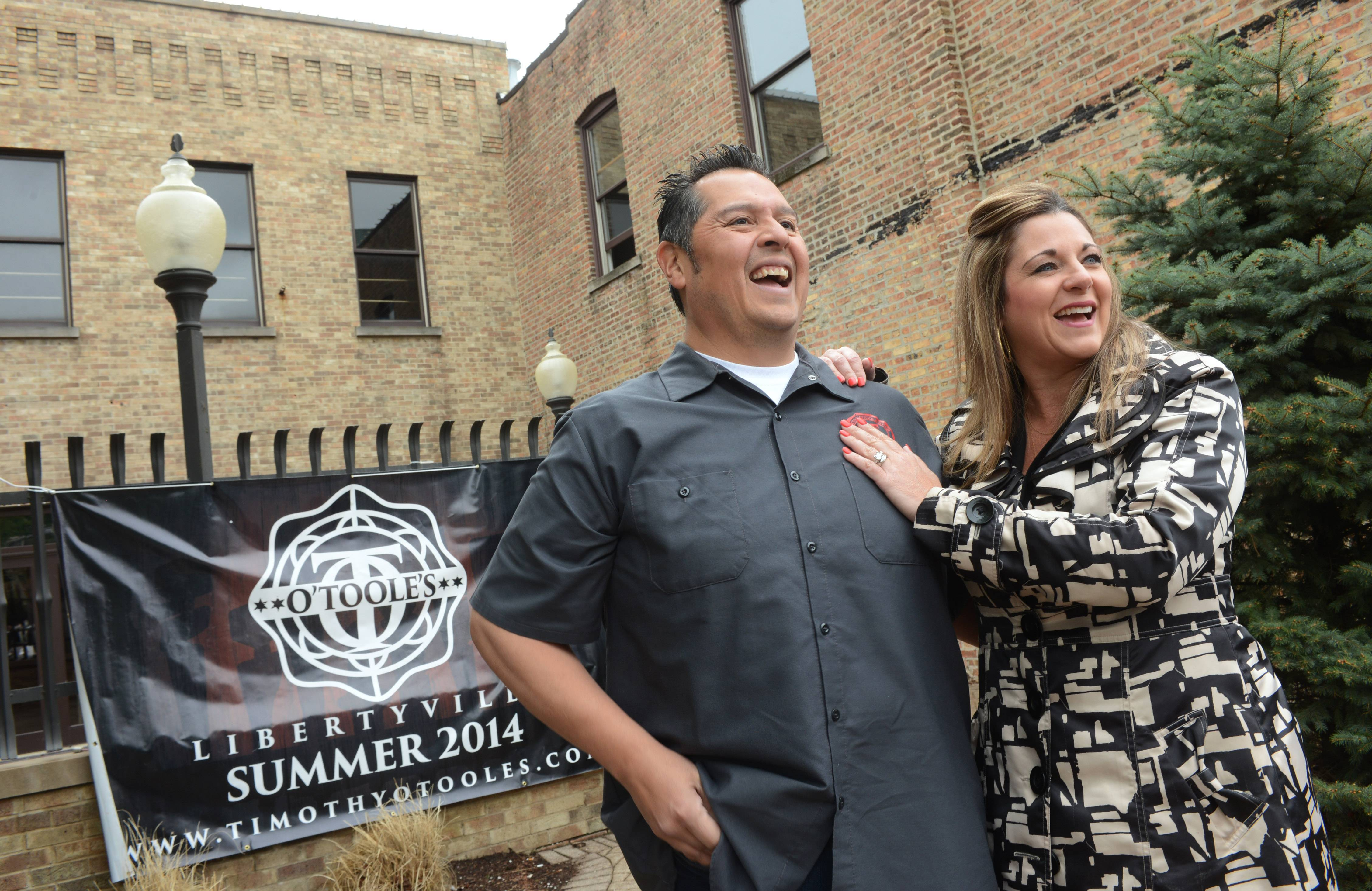 Humberto Martinez Jr. and his wife, Sara McKinnon, plan to open O'Toole's of Libertyville in the former Mickey Finn's location on Milwaukee Avenue in the downtown area.