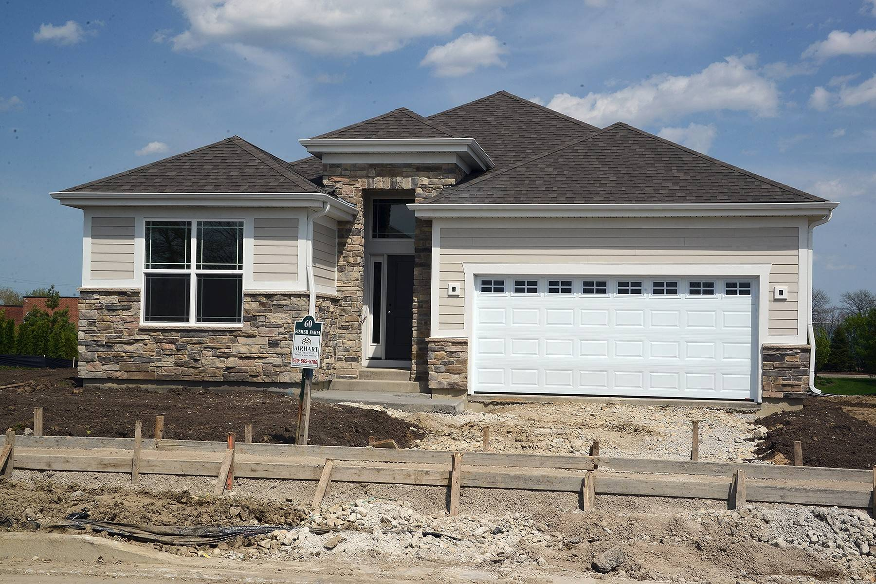 Airhart Construction will soon complete this house available at its Fisher Farm community in Winfield.