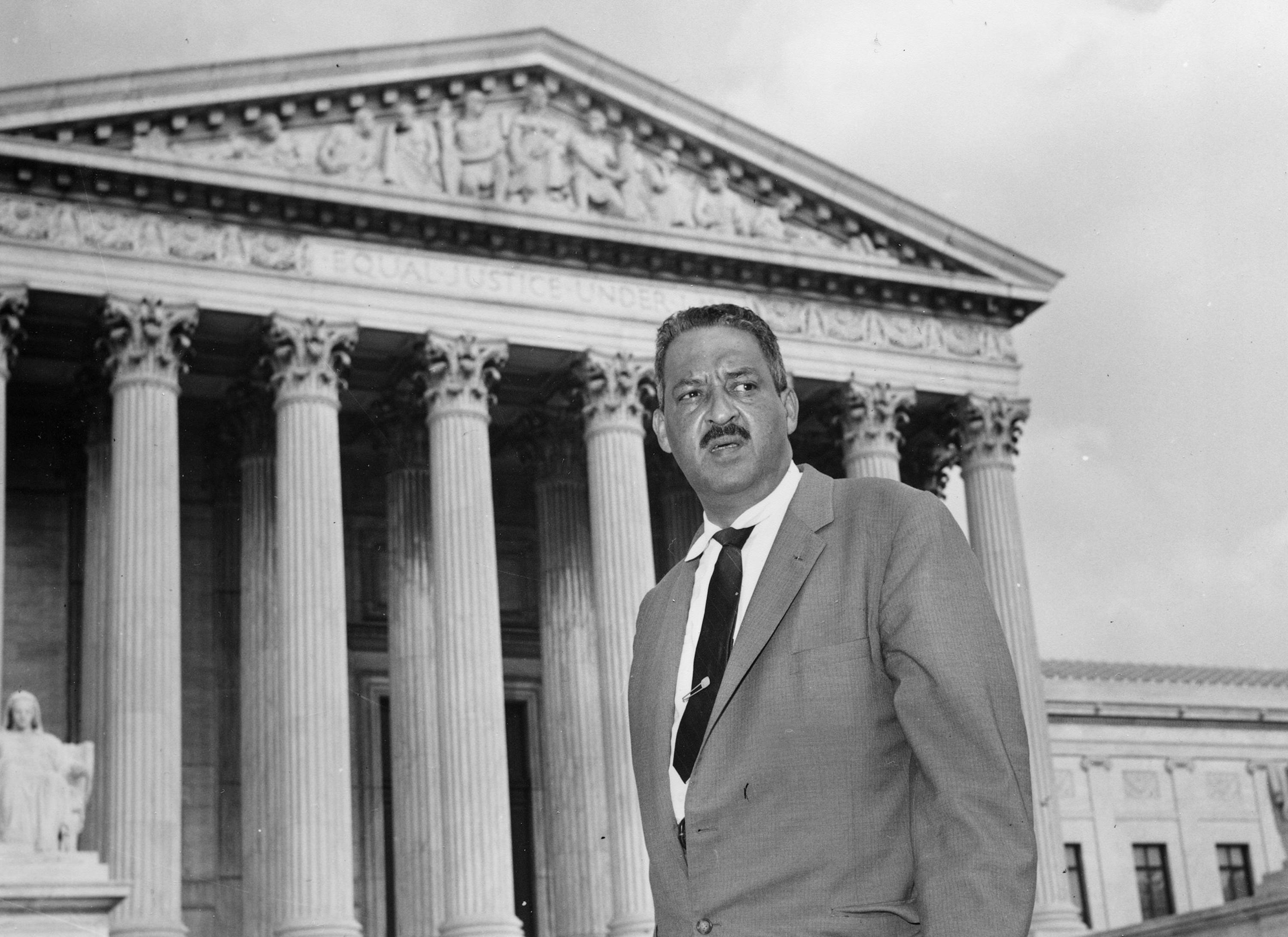 Thurgood Marshall, the head of the NAACP's legal arm who argued part of the Brown case, went on to become the Supreme Court's first black justice in 1967.
