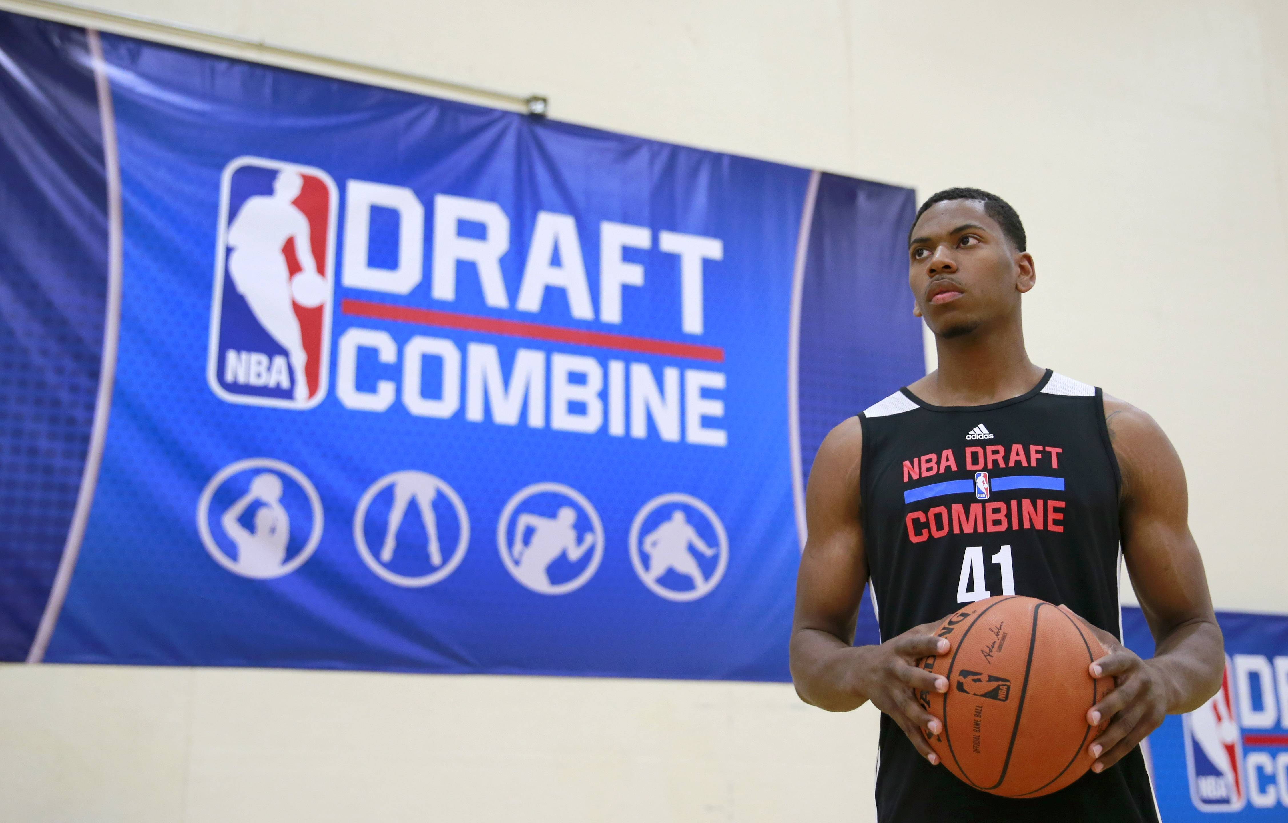 Glenn Robinson III recorded the best three-quarter court sprint time (3.1 seconds) at the NBA Draft Combine in Chicago.