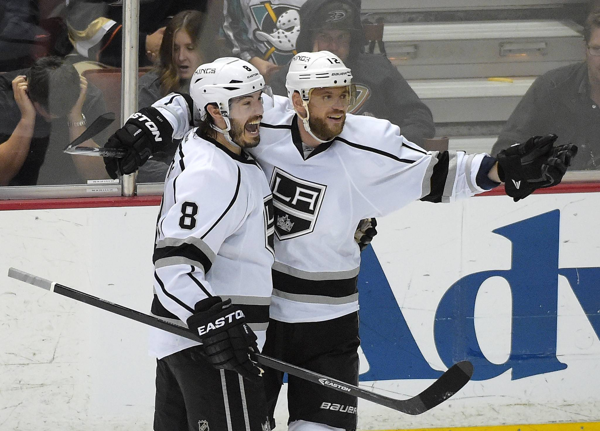 Only 36 hours after dispatching the Anaheim Ducks, Los Angeles Kings right wing Marian Gaborik, right, and standout defenseman Drew Doughty will face the Blackhawks in Game 1 of the Western Conference finals.