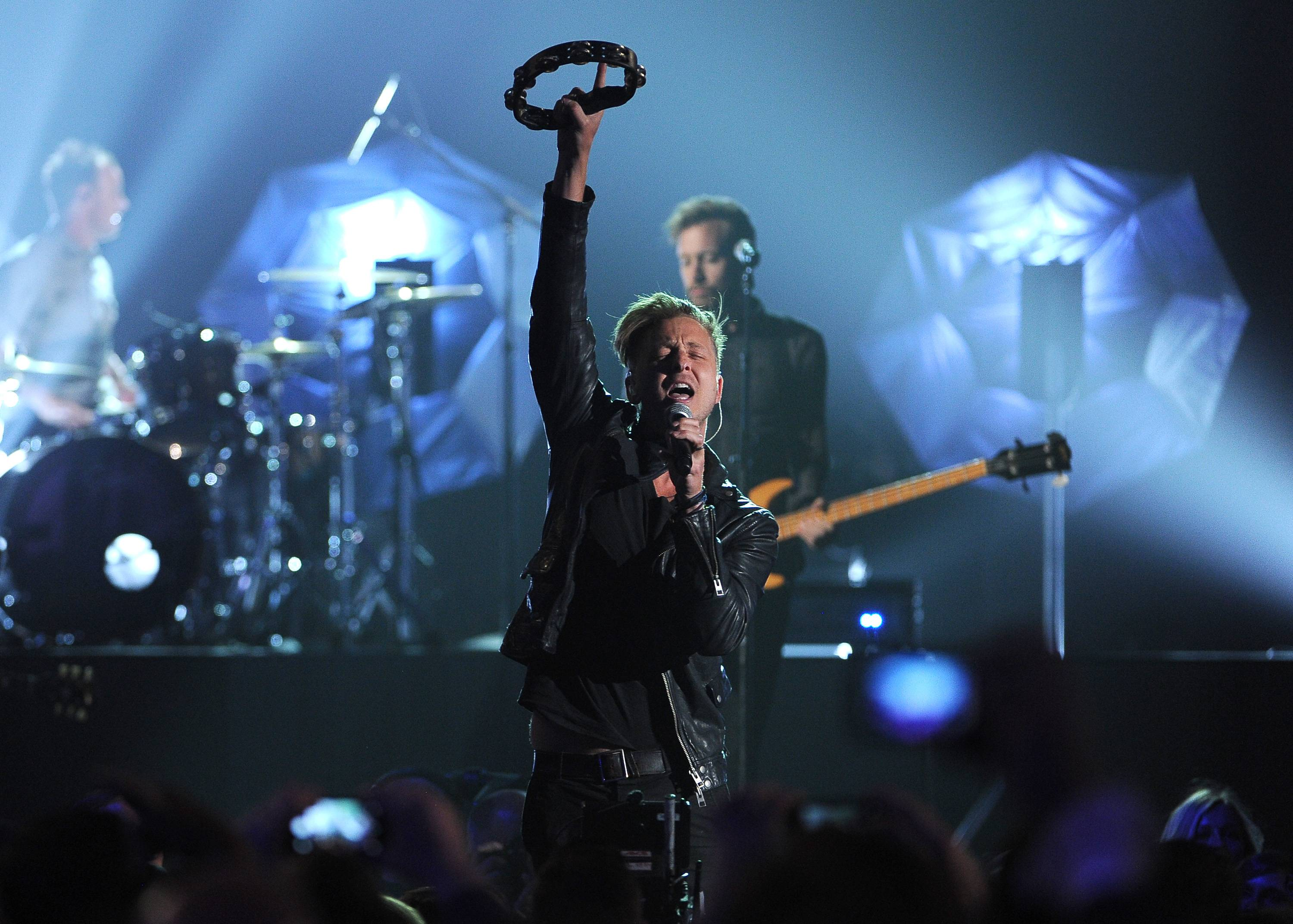 Ryan Tedder, of the musical group OneRepublic, performs at the Billboard Music Awards at the MGM Grand Garden Arena on Sunday, May 18, 2014, in Las Vegas.