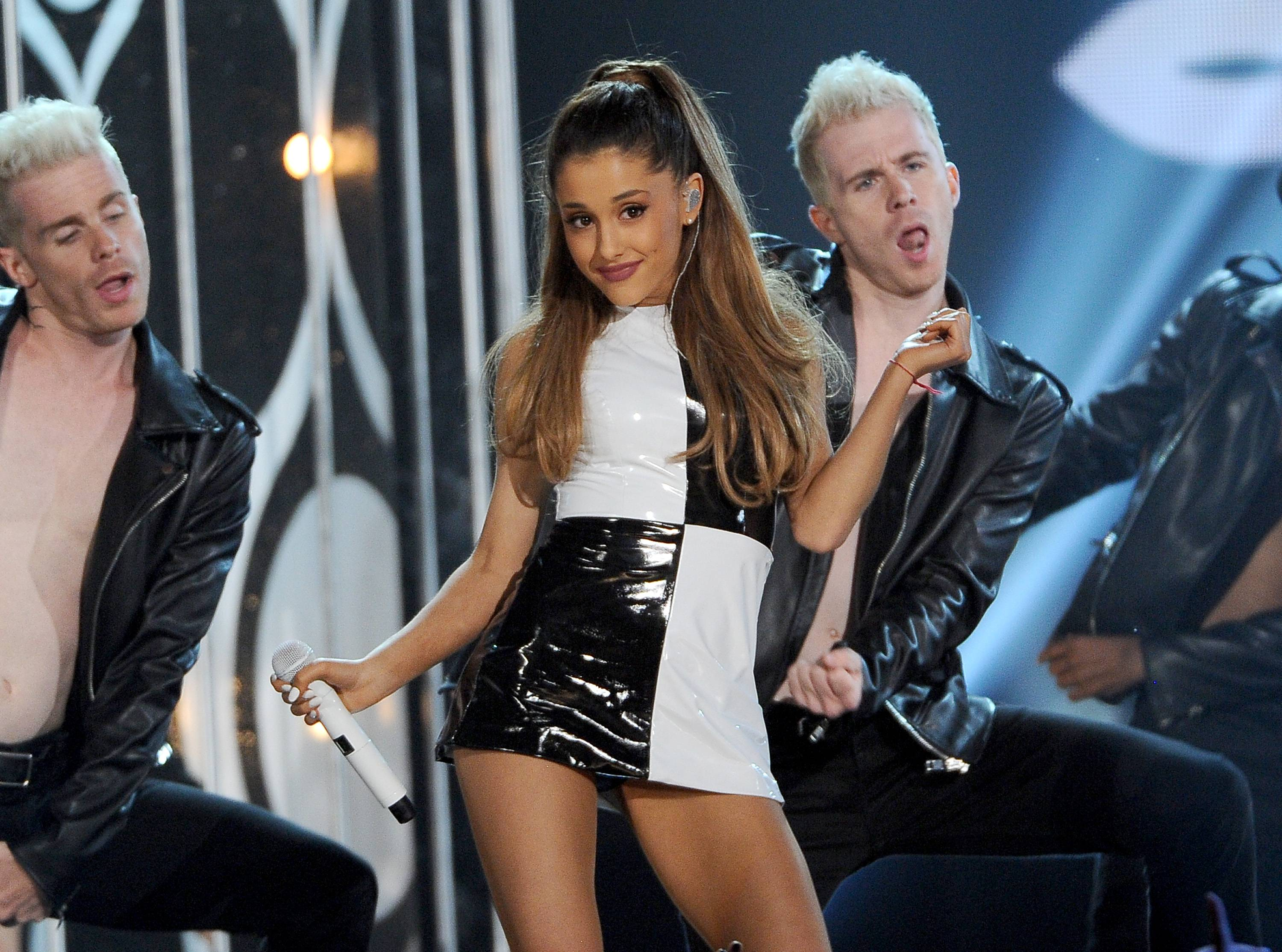 Ariana Grande performs at the Billboard Music Awards at the MGM Grand Garden Arena on Sunday, May 18, 2014, in Las Vegas.