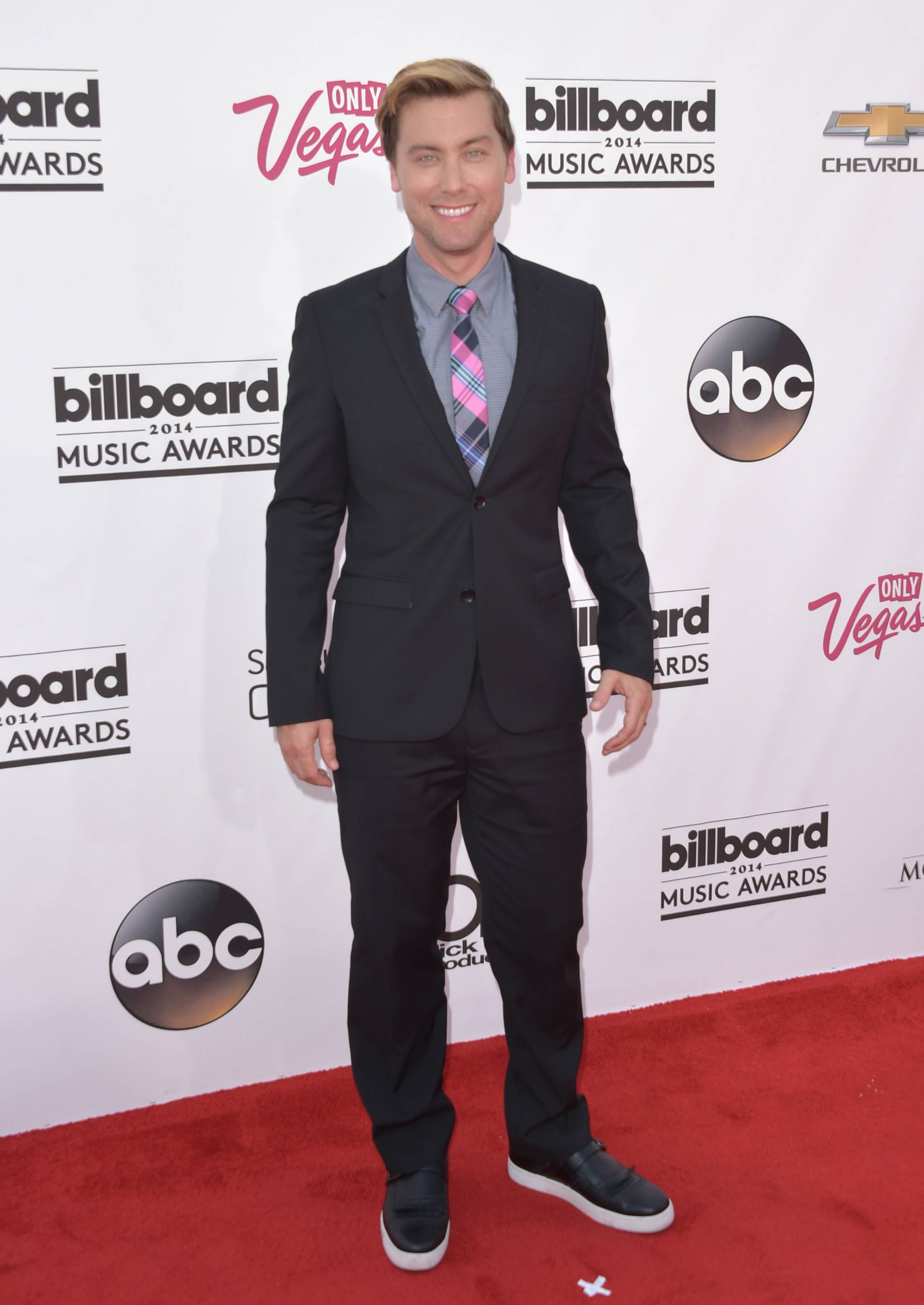 Lance Bass arrives at the Billboard Music Awards at the MGM Grand Garden Arena on Sunday, May 18, 2014, in Las Vegas.