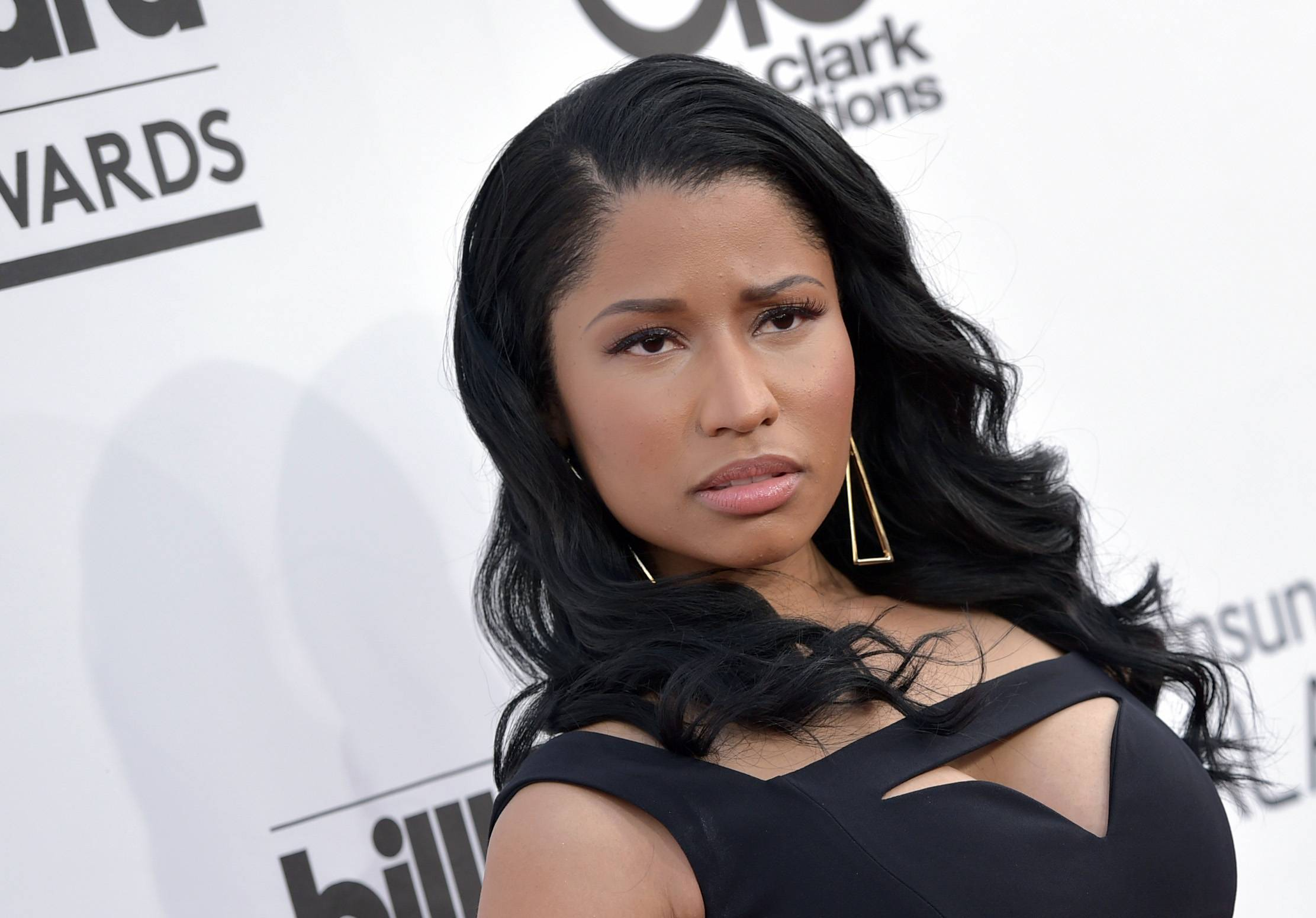 Nicki Minaj arrives at the Billboard Music Awards at the MGM Grand Garden Arena on Sunday, May 18, 2014, in Las Vegas.