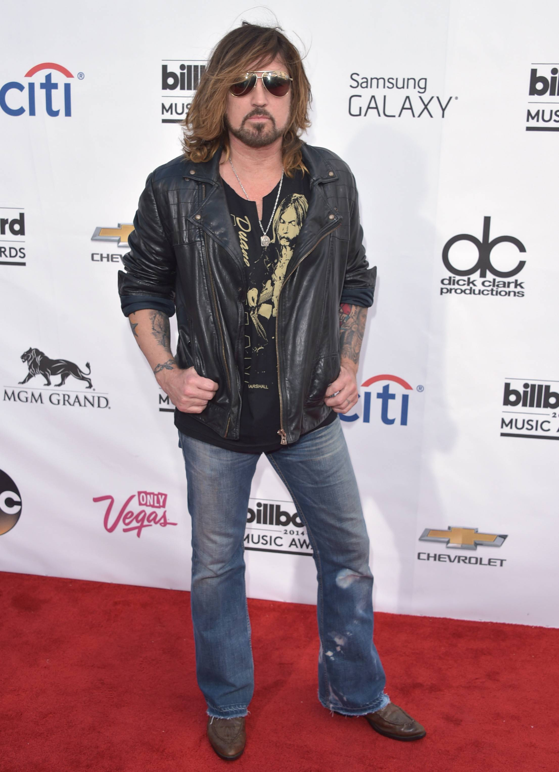 Billy Ray Cyrus arrives at the Billboard Music Awards at the MGM Grand Garden Arena on Sunday, May 18, 2014, in Las Vegas.