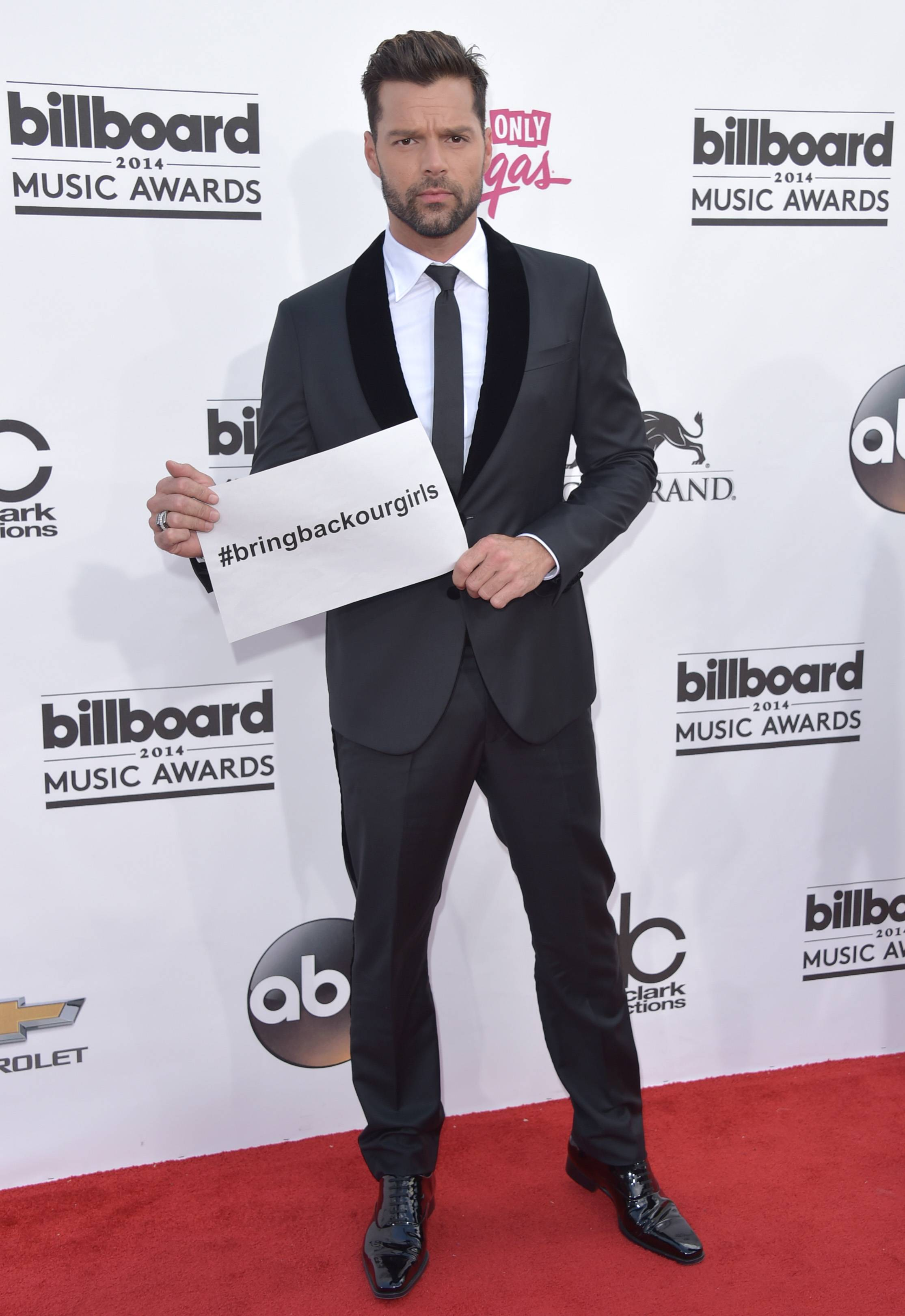 Ricky Martin arrives at the Billboard Music Awards at the MGM Grand Garden Arena on Sunday, May 18, 2014, in Las Vegas.