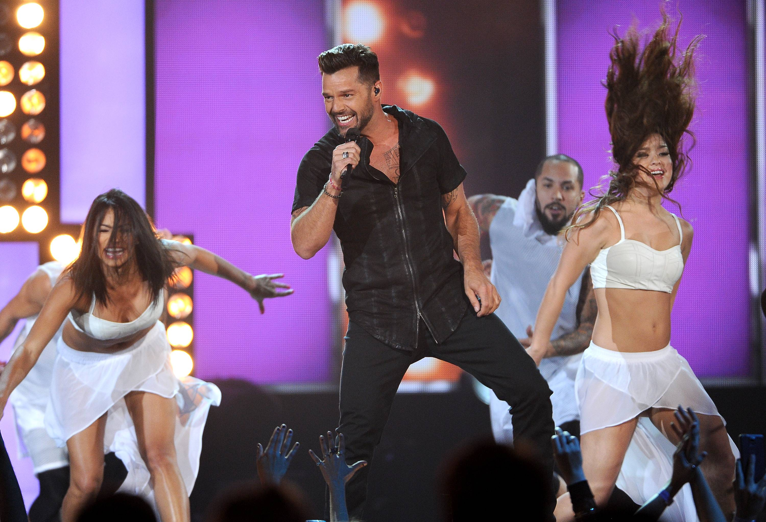 Ricky Martin performs on stage at the Billboard Music Awards at the MGM Grand Garden Arena on Sunday, May 18, 2014, in Las Vegas.