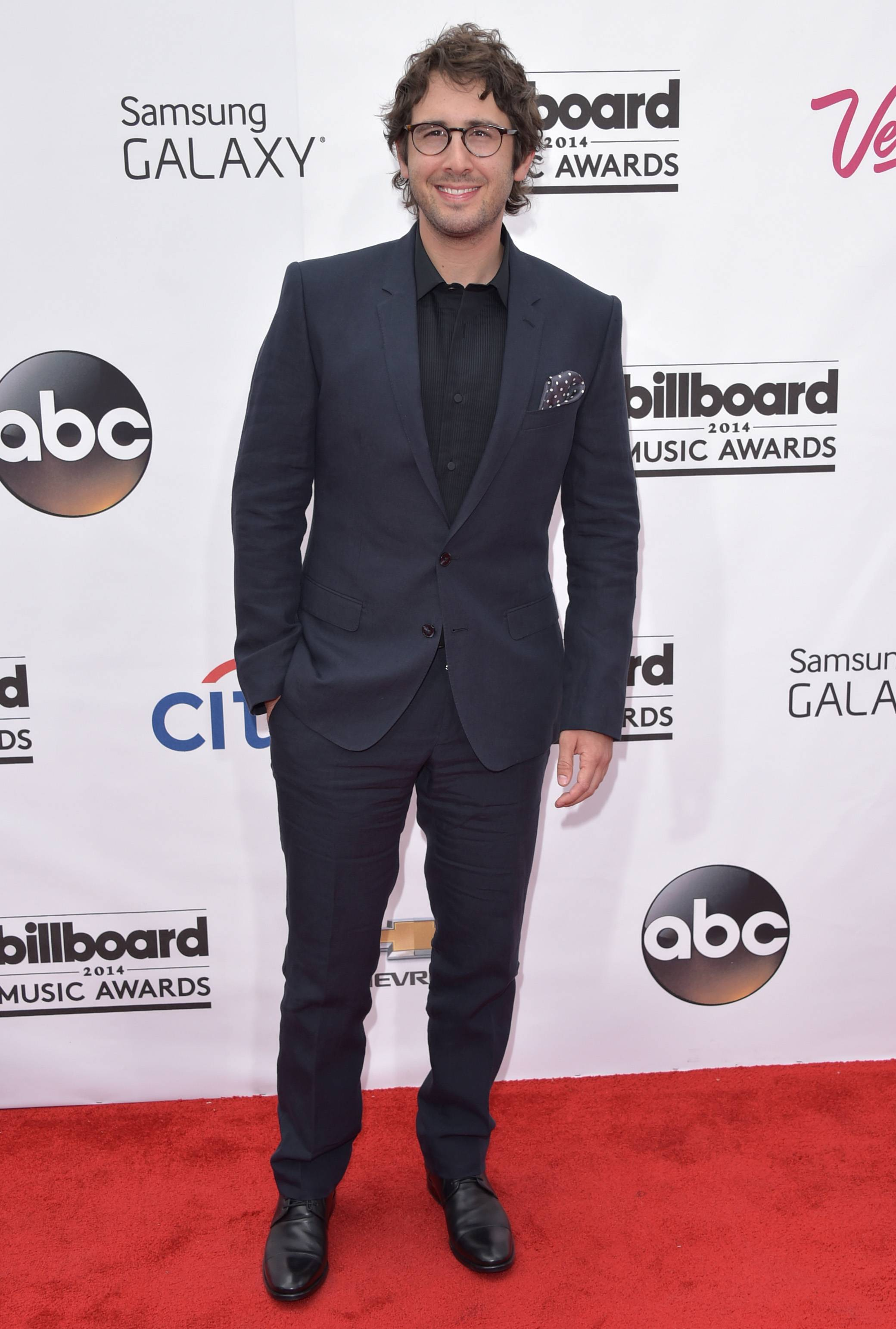 Singer Josh Groban arrives at the Billboard Music Awards at the MGM Grand Garden Arena on Sunday, May 18, 2014, in Las Vegas.