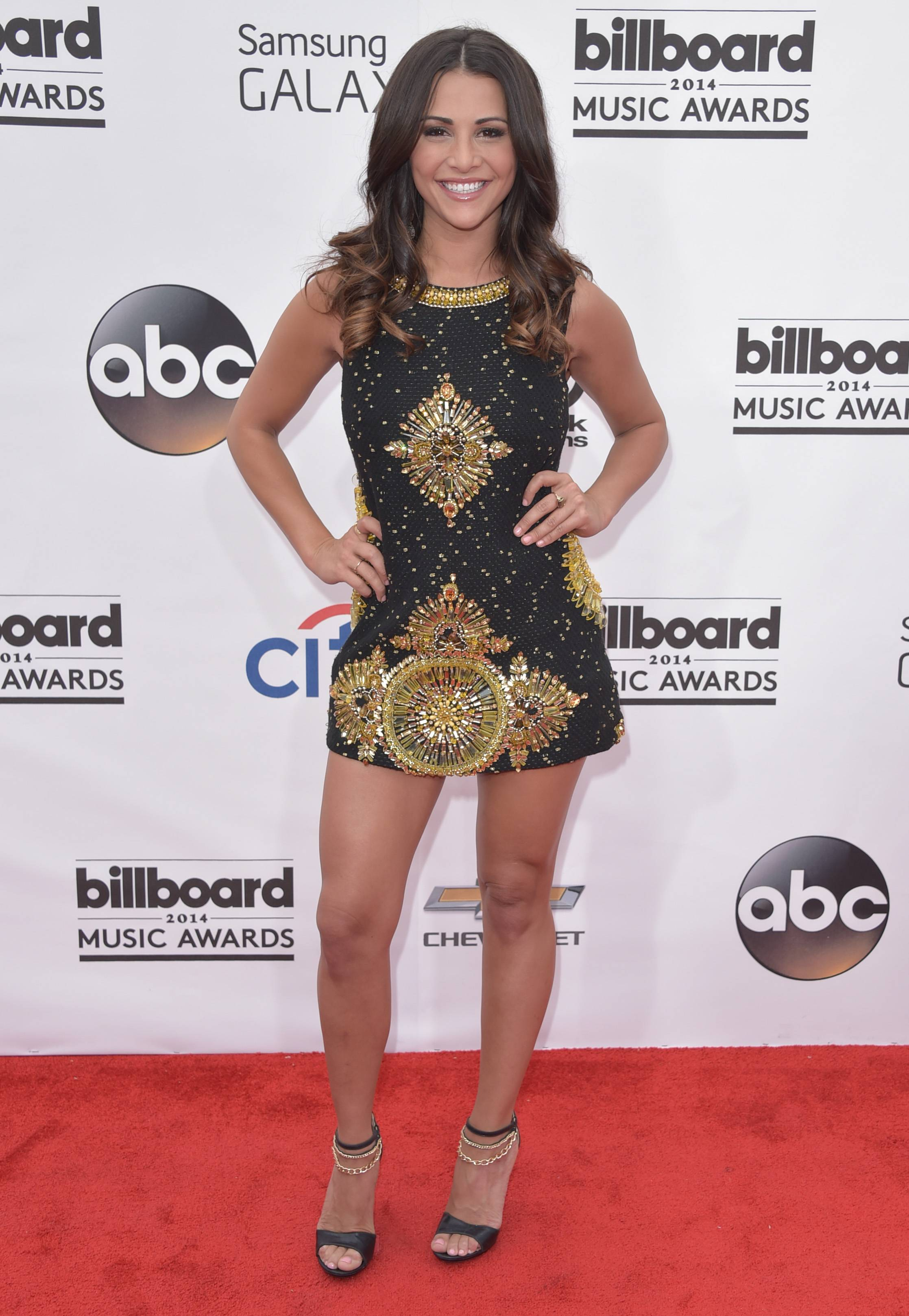 Andi Dorfman arrives at the Billboard Music Awards at the MGM Grand Garden Arena on Sunday, May 18, 2014, in Las Vegas.