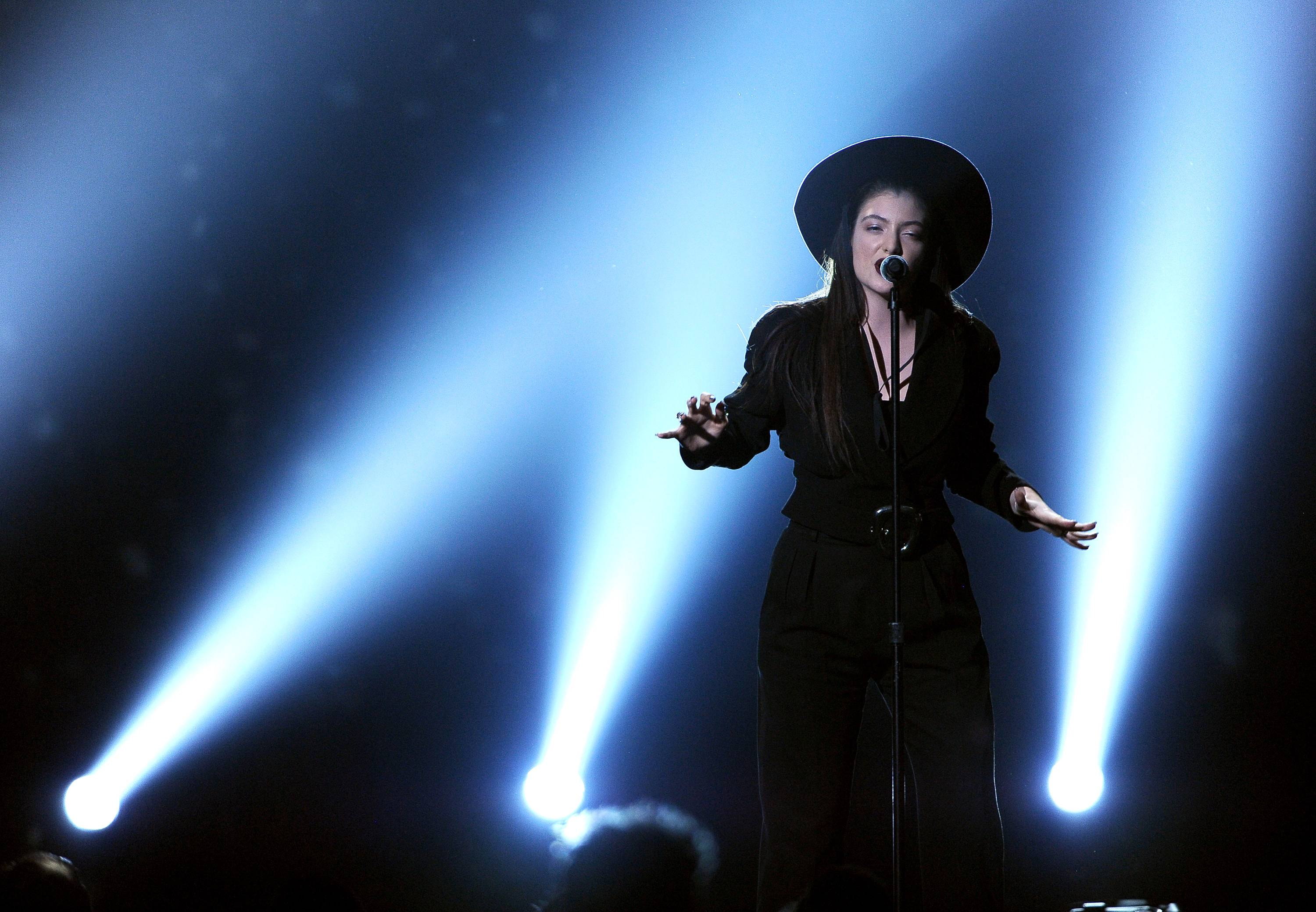 Lorde performs on stage at the Billboard Music Awards at the MGM Grand Garden Arena on Sunday in Las Vegas.