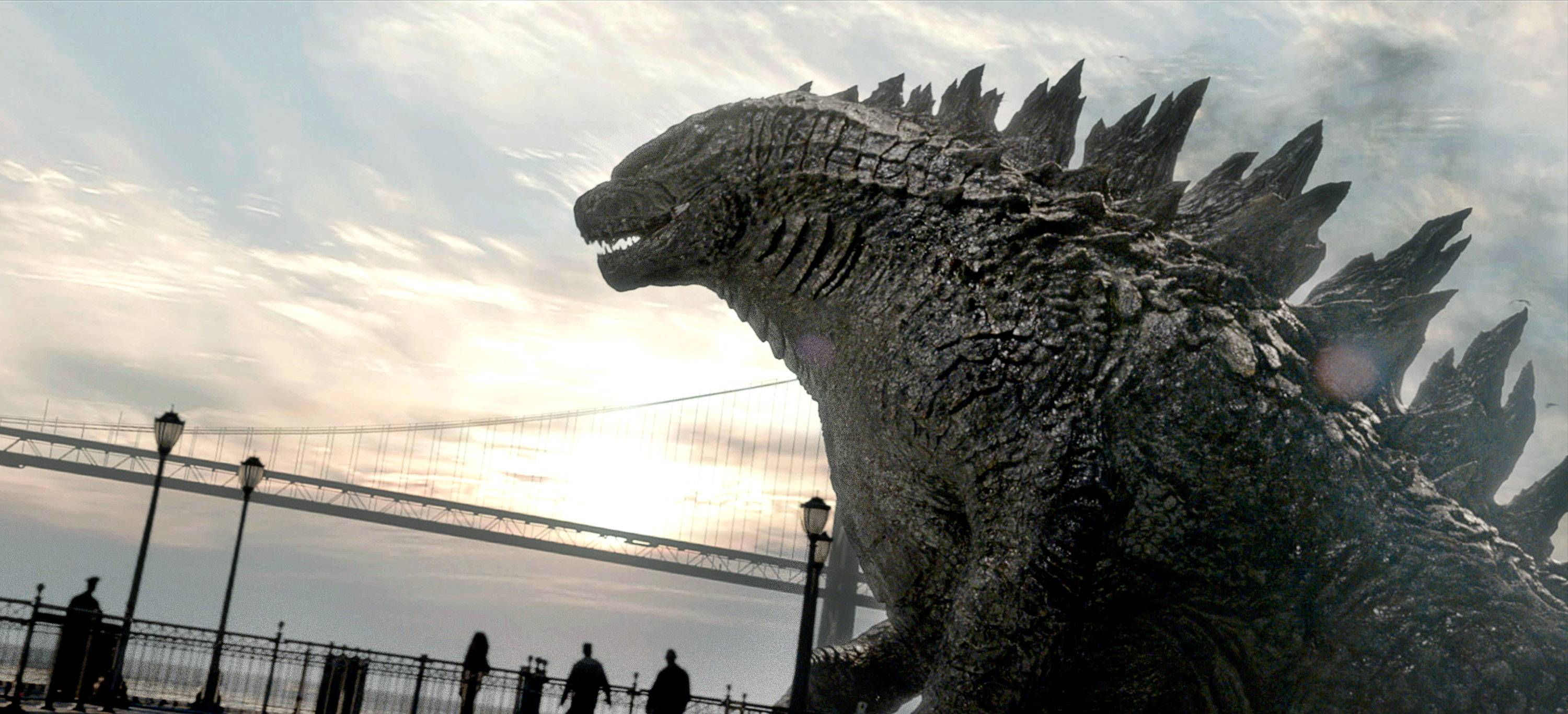 "This film image released by Warner Bros. Pictures shows a scene from ""Godzilla,"" which raked in more than $90 million in its first weekend of release."