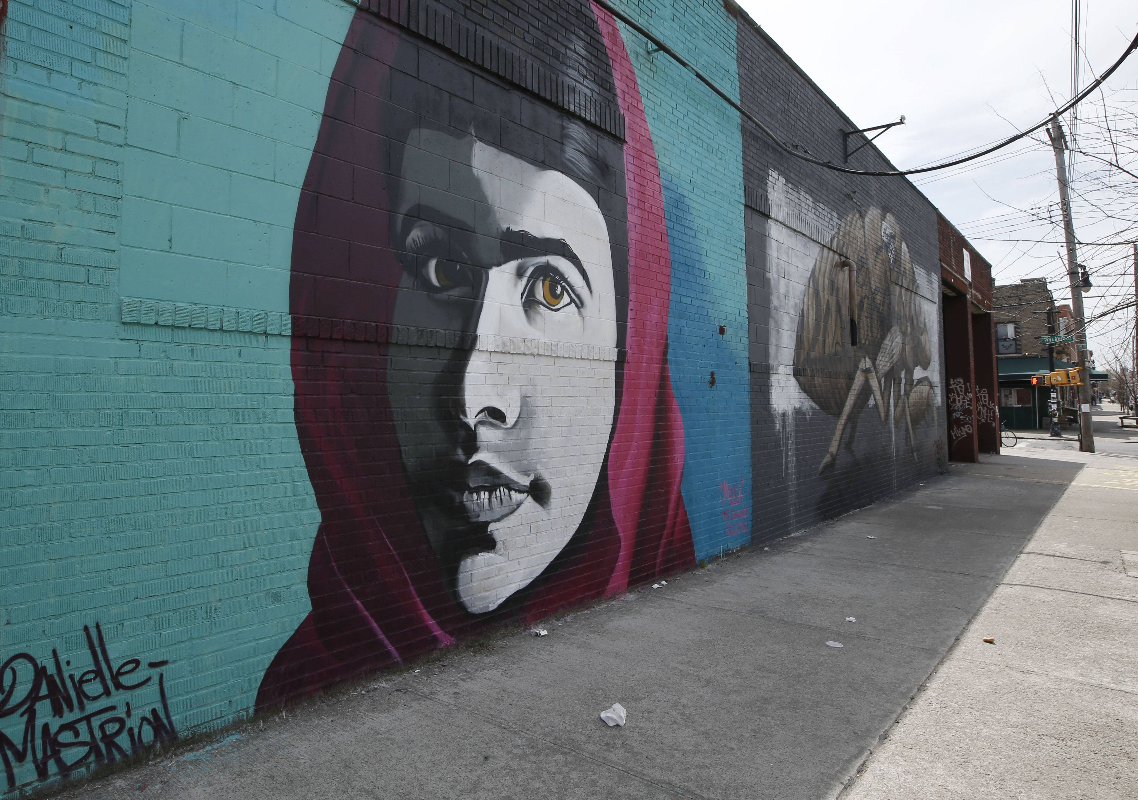 Visitors to Bushwick can see Danielle Mastrion's portrait of education activist and heroine Malala Yousafzai, the Pakistani schoolgirl who stood up to the Taliban and defended her right to an education.
