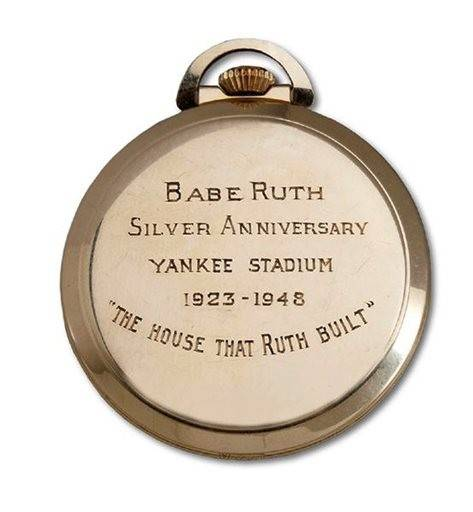 A gold pocket watch owned by Babe Ruth has sold for $650,108 at an auction in Southern California.