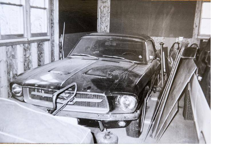 After mechanical problems, Mondy parked the Mustang in his father's garage for a few years.