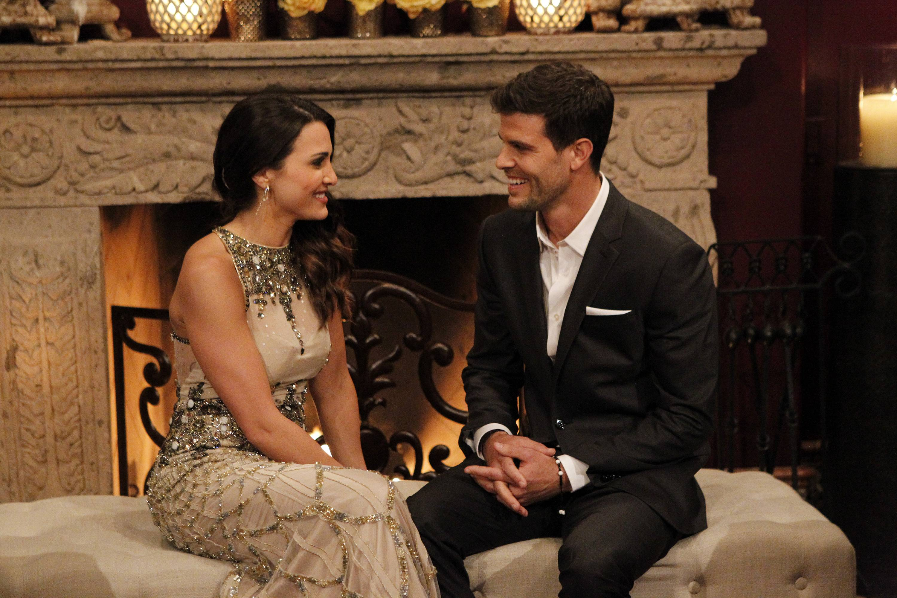 "Andi Dorfman and Eric Hill share a moment on the premiere episode of ""The Bachelorette,"" which airs at 8:30 p.m. Monday on ABC. Hill died in a paragliding accident shortly after he was sent home from the show."