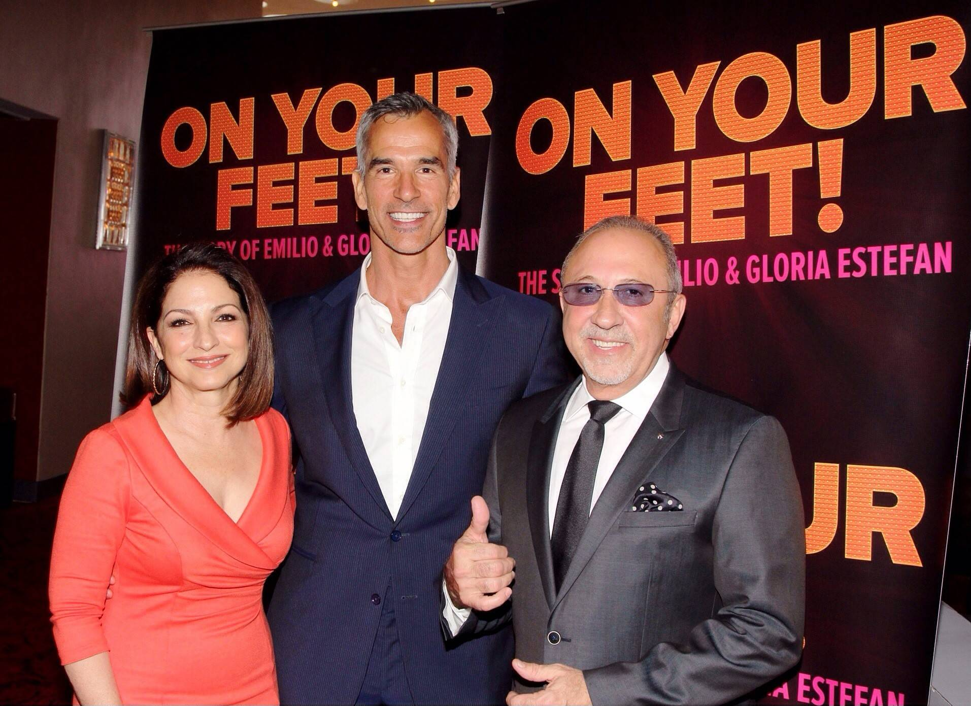 "Gloria Estefan, Jerry Mitchell and Emilio Estefan announce the new musical ""On Your Feet!"" which will premiere in Chicago in summer 2015."