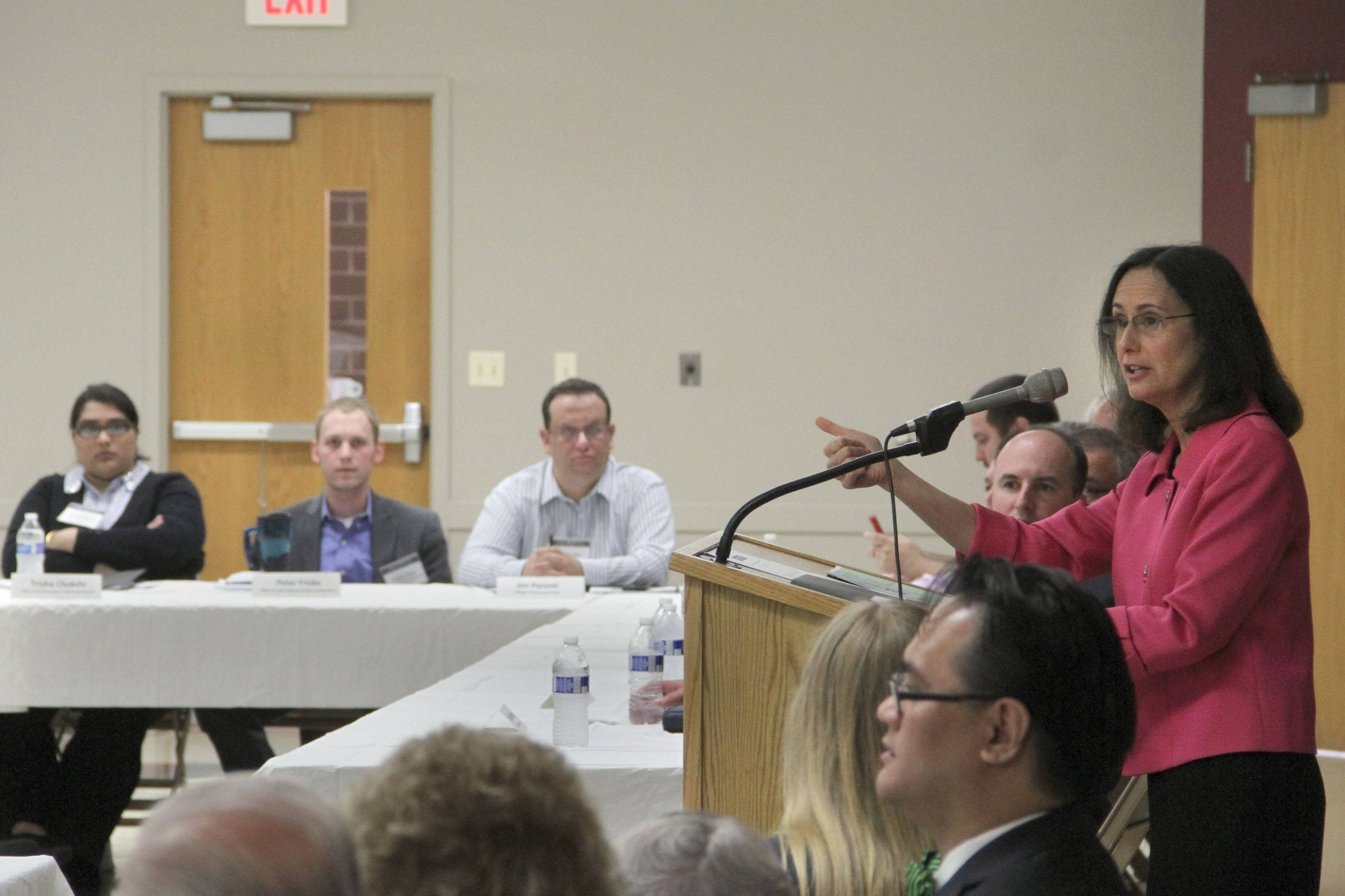 Illinois Attorney General Lisa Madigan provided tips on preventing identity theft during a consumer round-table Tuesday in Des Plaines. About 50 representatives from suburban law enforcement, senior organizations and civic groups attended the event.