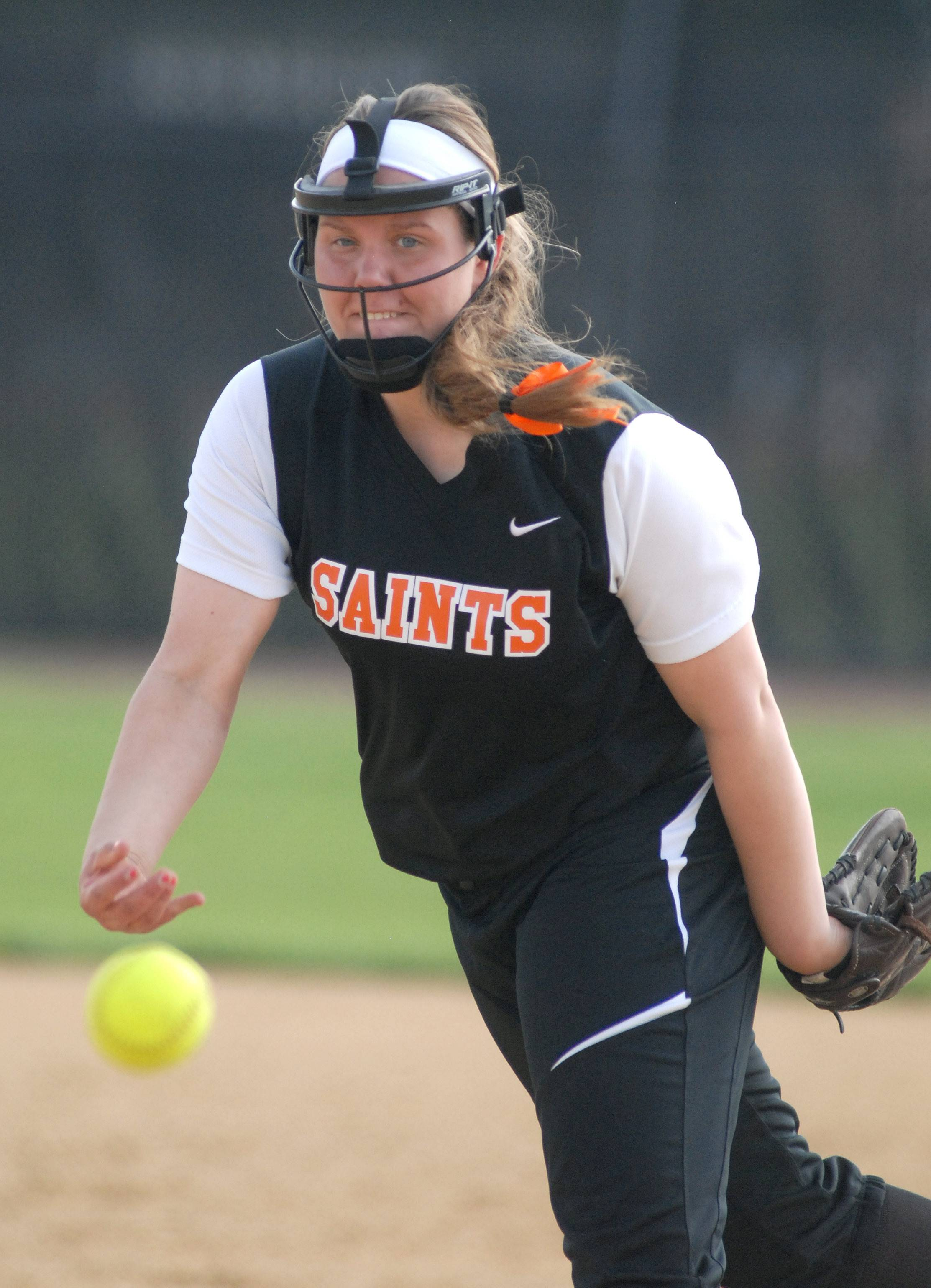 St. Charles East's Haley Beno fired a 2-hit shutout Tuesday.