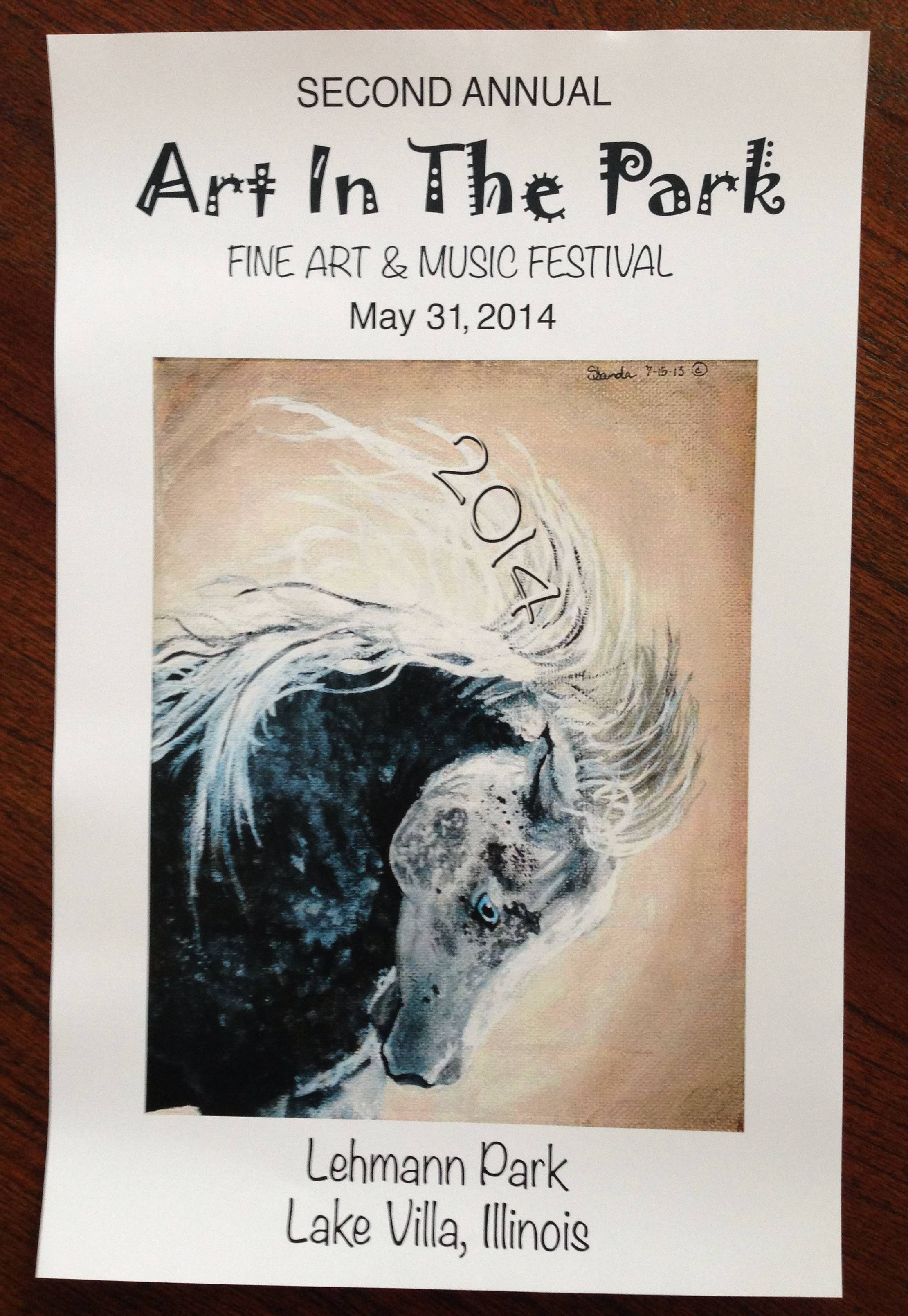 Sydney Janda's sketch has been selected as the poster art for the Art in the Park festival in Lake Villa on May 31.