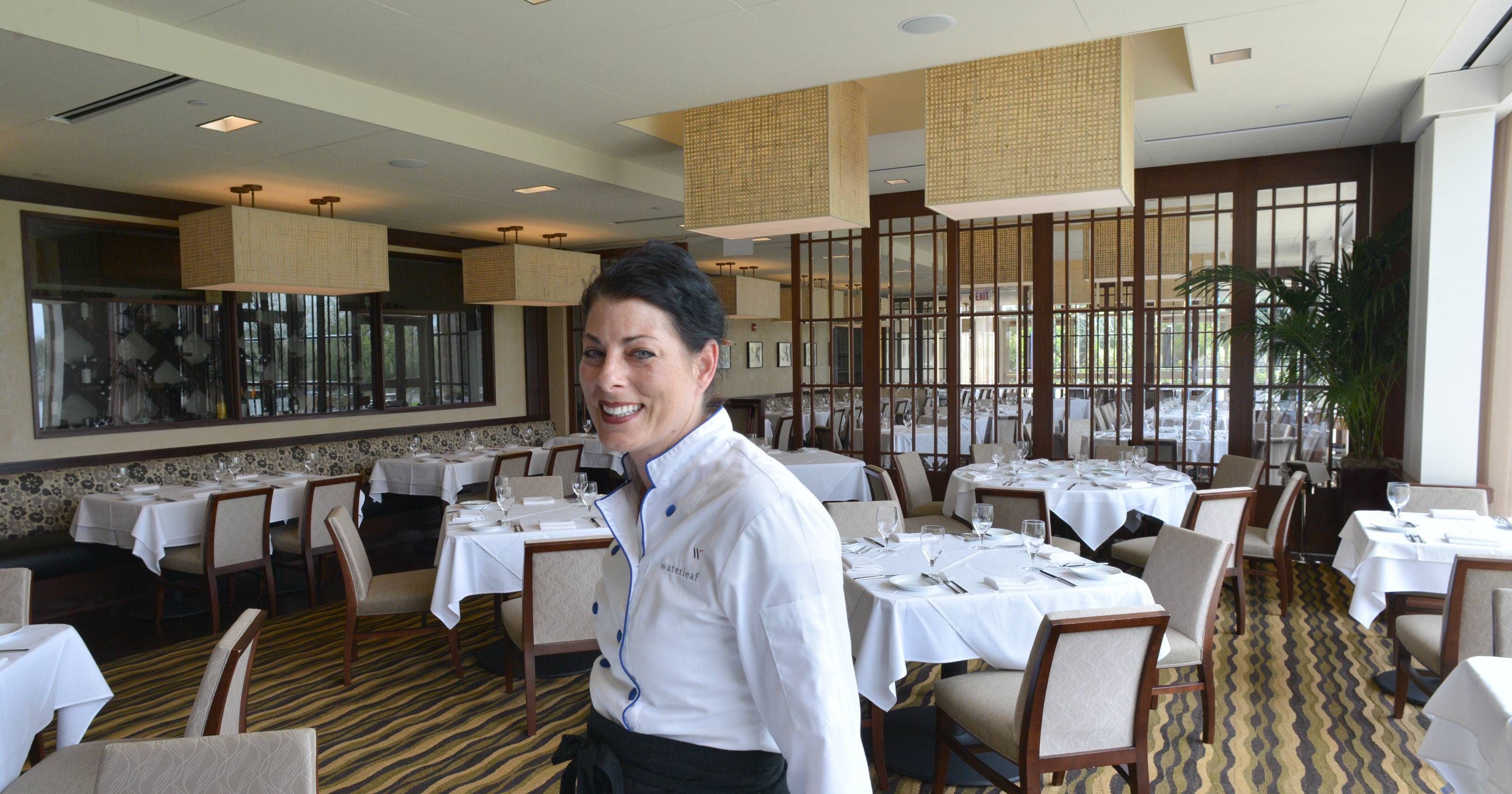 Celebrated chef Nadia Tilkian oversees the kitchen at Waterleaf, an upscale restaurant located on the campus of College of DuPage in Glen Ellyn.