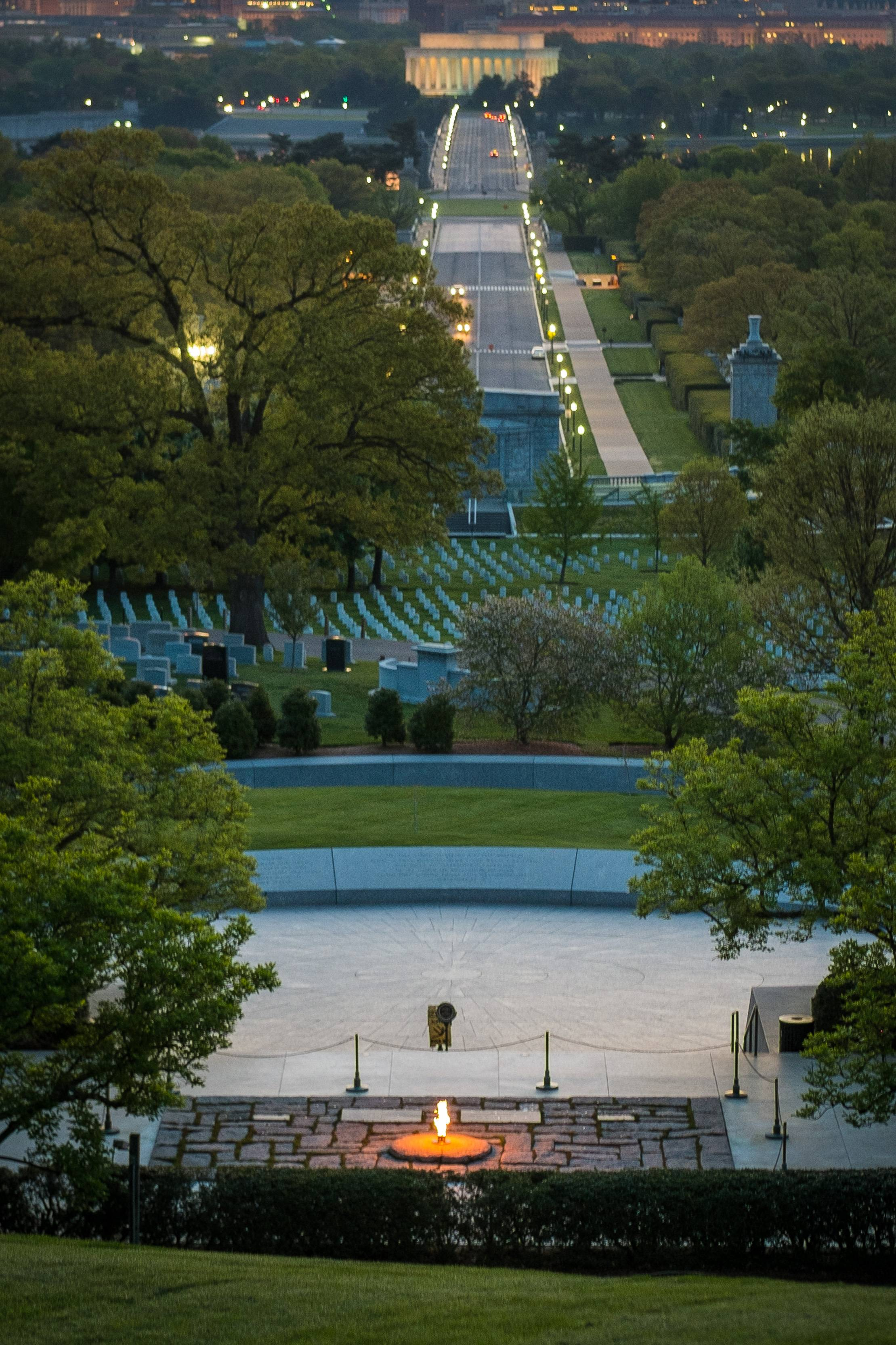 The eternal flame marks the burial site of President John F. Kennedy at Arlington National Cemetery in Arlington, Va.