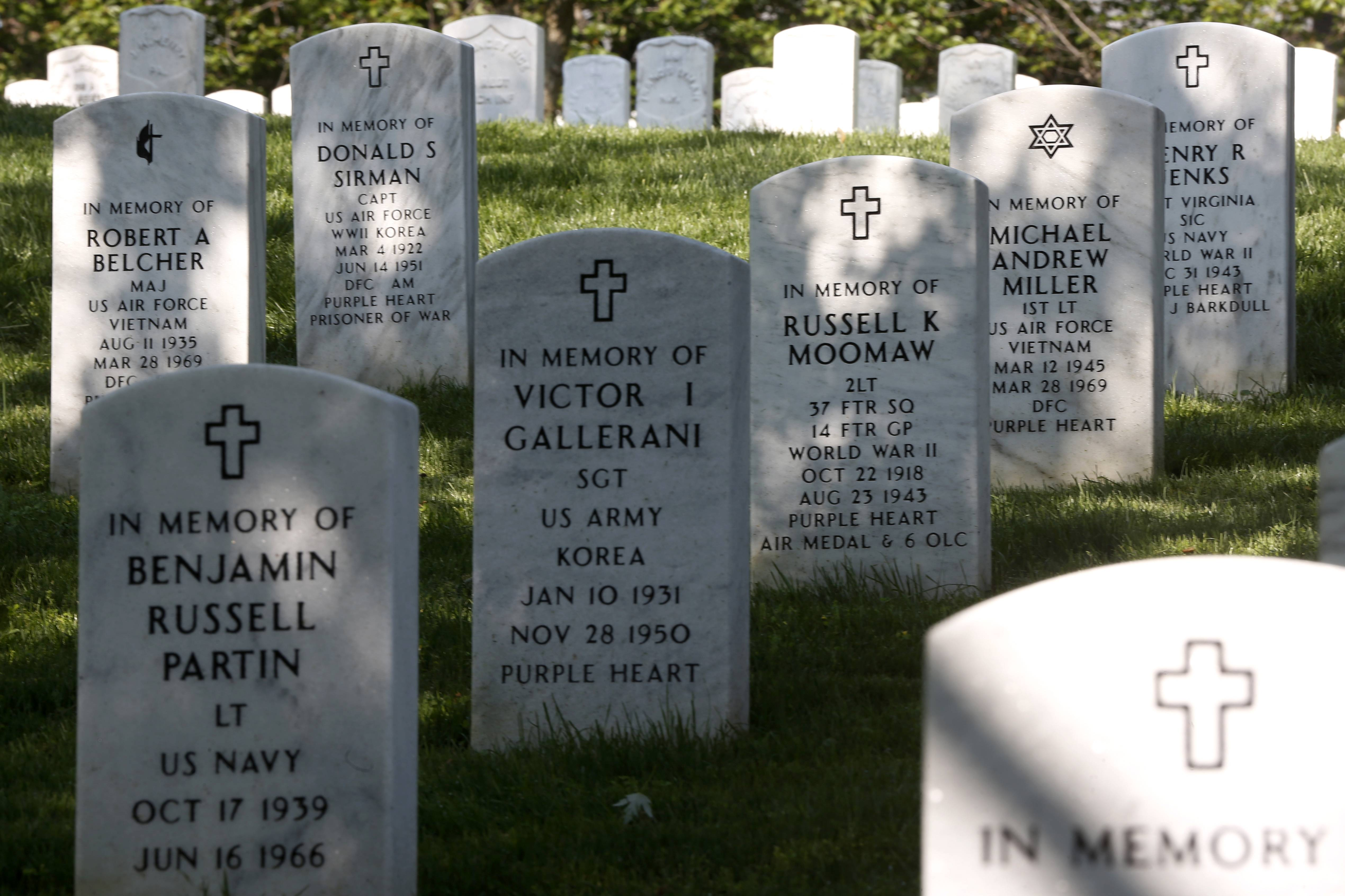 Arlington National Cemetery's hallowed ground honors American soldiers from many different wars.