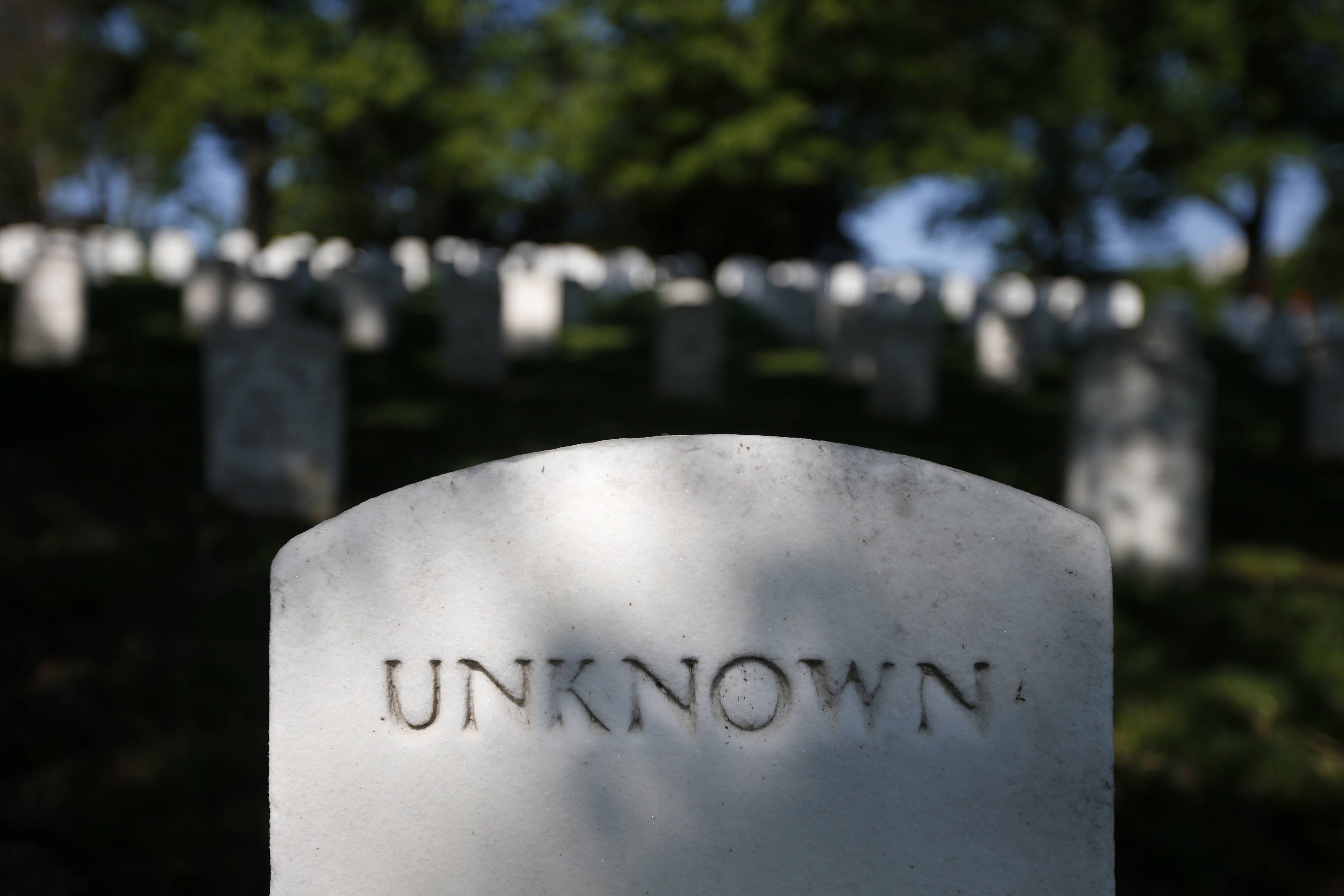 Visitors often stop by this grave marker for an unknown soldier at Arlington National Cemetery in Arlington, Va.