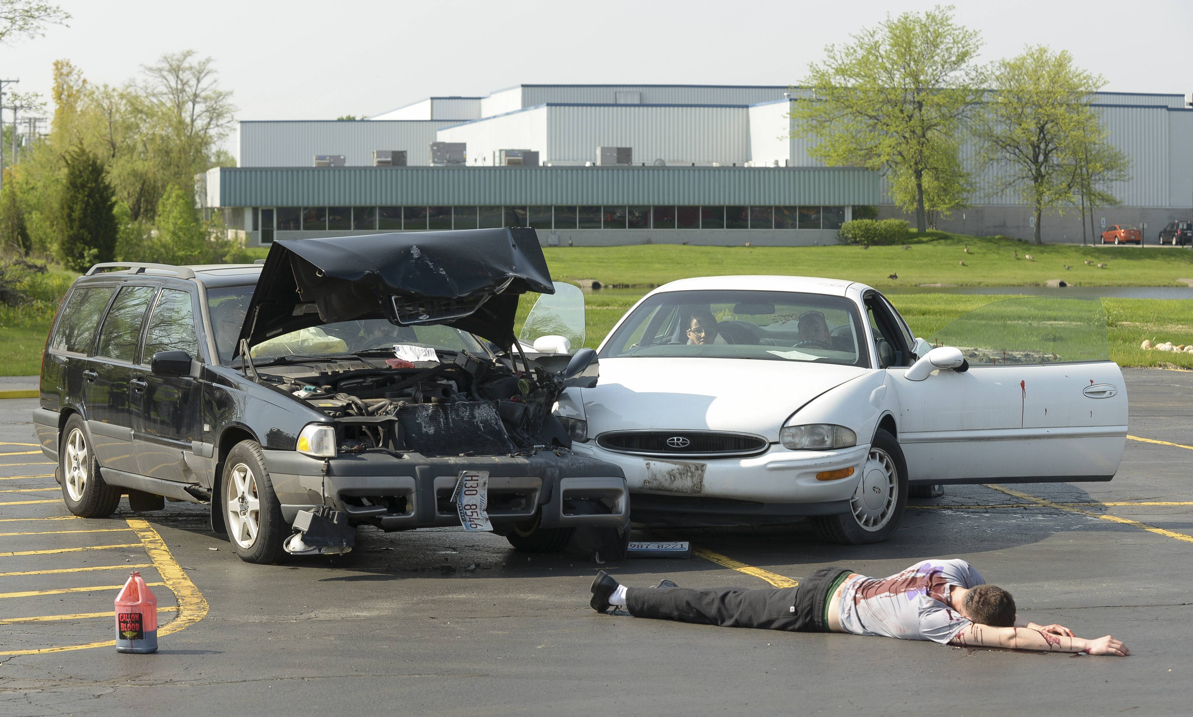High school students studying to become emergency medical technicians got some hands-on training Tuesday when responding to a mock accident at the Technology Center of DuPage in Addison.