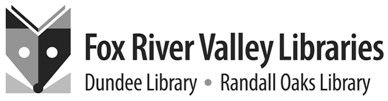 The public picked this logo to represent the Fox River Valley Public Library District.