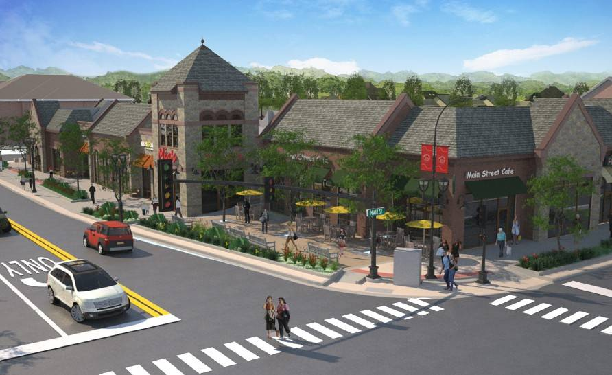 This is a rendering of a one-story option for downtown Barrington's retail redevelopment project at the southwest corner of Hough and Main streets, which village trustees approved Monday.