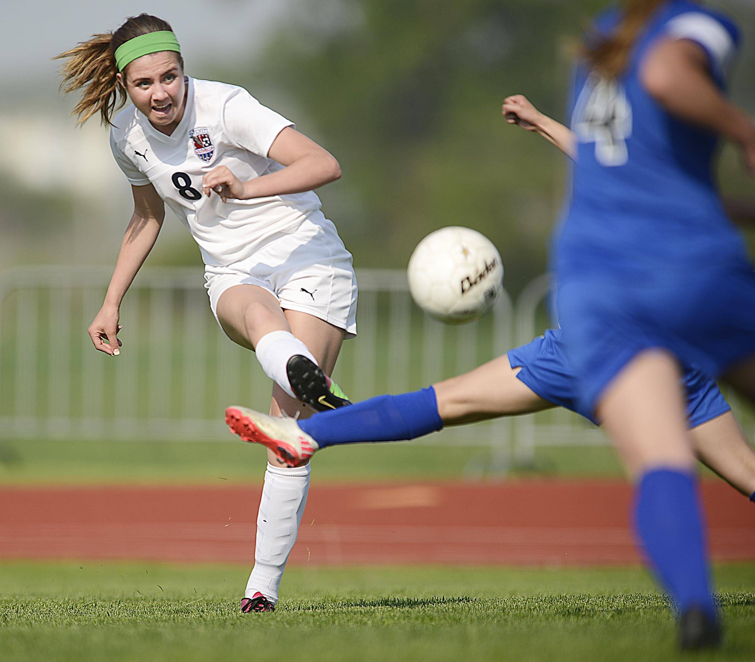 South Elgin's Delaney Kelleher scores the first goal of the game against Larkin Tuesday in South Elgin.