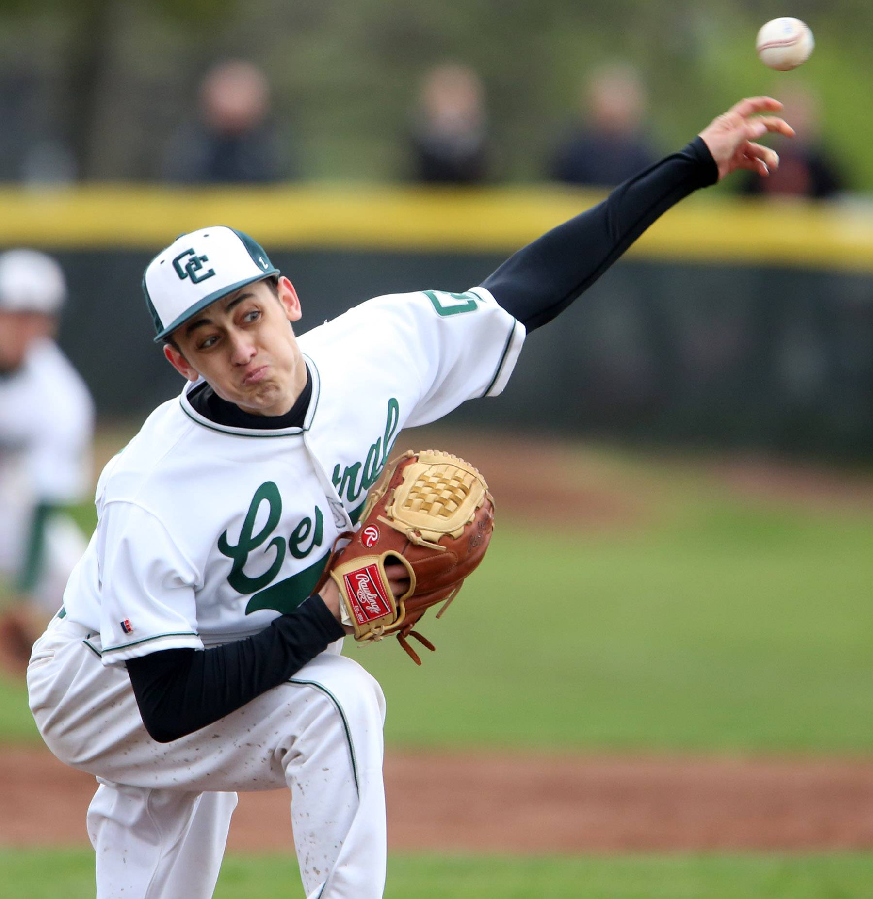 Grayslake Central pitcher Justin Guryn throws against Grayslake North on Friday at Grayslake Central.