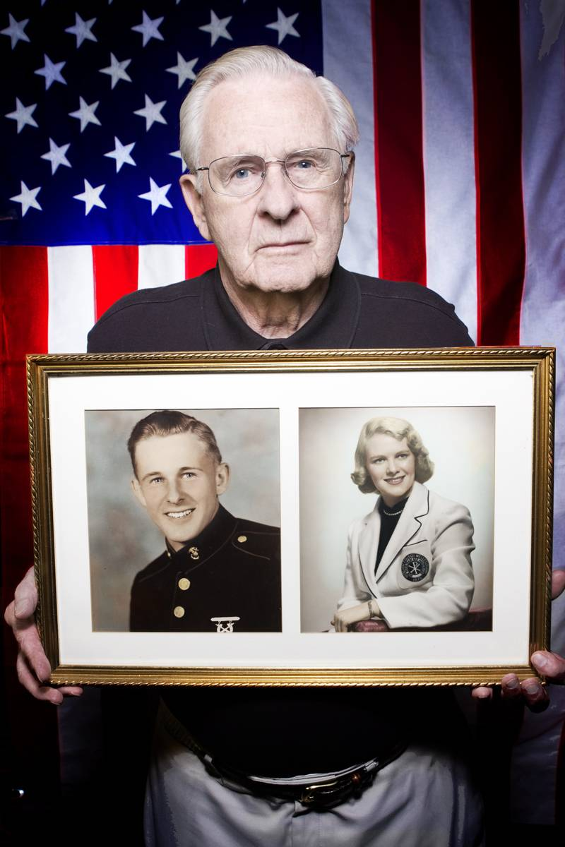 "Wartime veterans like Garlands member Charles ""Lynn"" Buckingham, Marine Corps, Sergeant, 1943-1946, can learn more about a benefit to help offset the cost of care and assisted living at a free workshop on June 24 at Prairieview at The Garlands.Brian Warling"