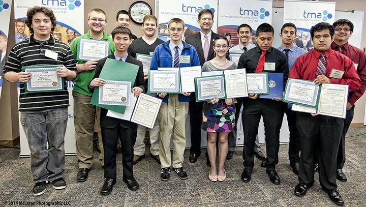 TMA Junior Related Theory Certificate Winners with Congressman Brad Schneider (IL-10)Fiona MacLaren-McLaren Photography
