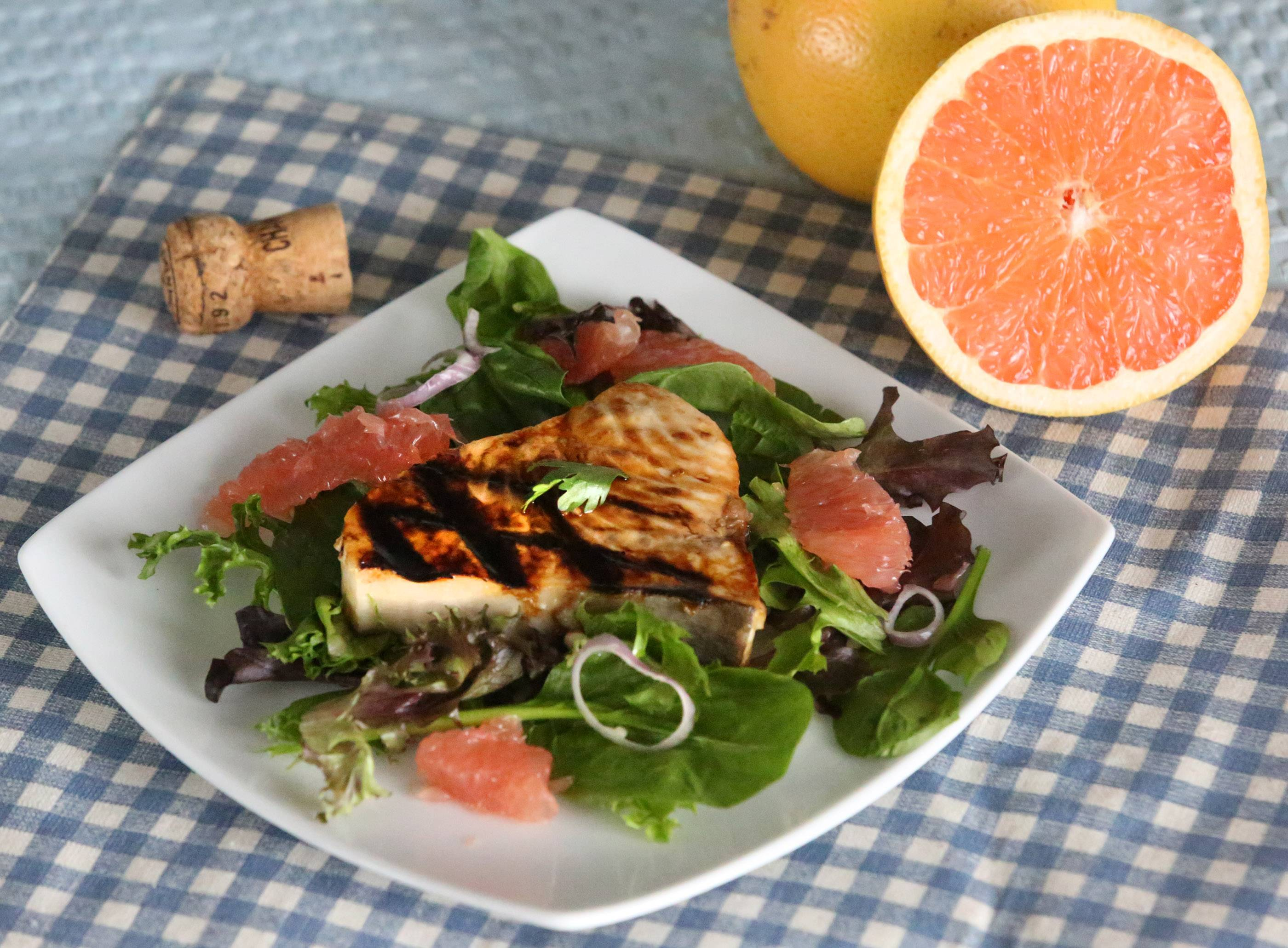 Grapefruit-Champagne Marinade with Swordfish