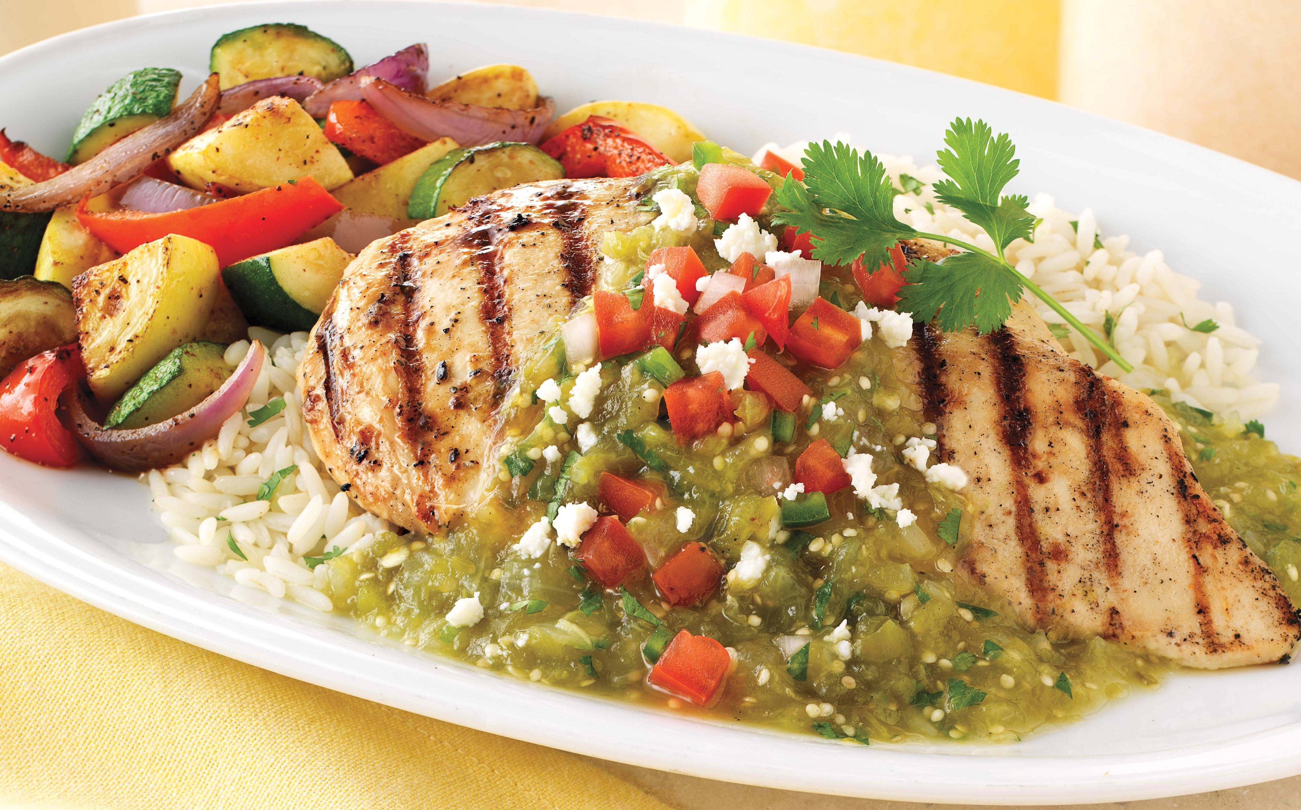 On the Border recently added several menu items under 600 calories, including this Mexican grilled chicken.