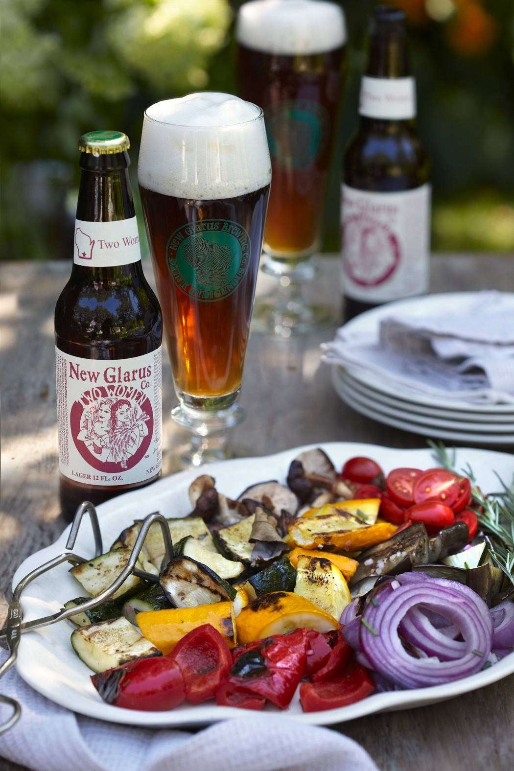 Vegetables sit in an herby marinade before hitting the grill, and then get tossed back in it for a lively summer salad.